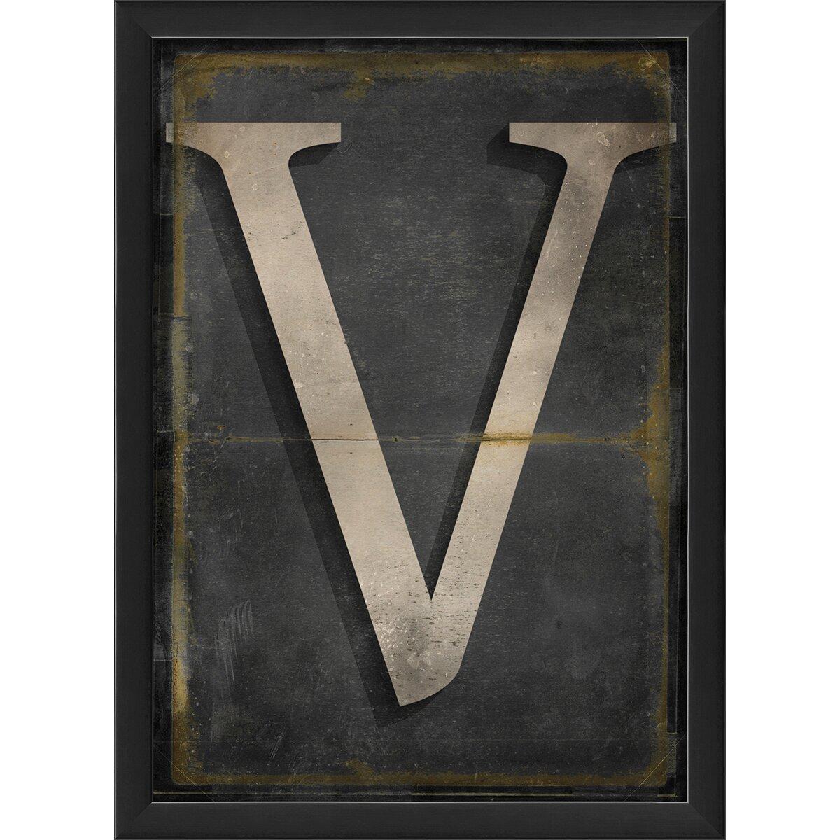 Wall Decor Letter V : The artwork factory letter v framed textual art reviews