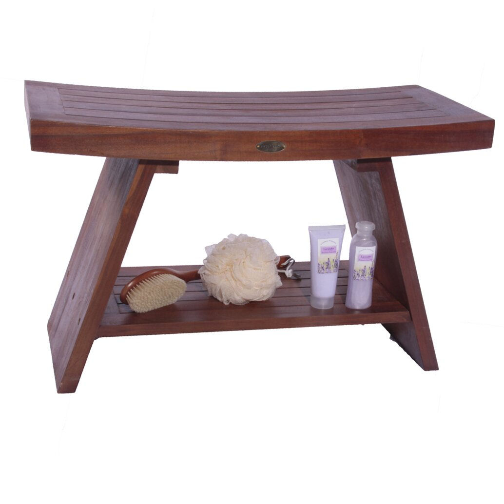 Decoteak asia teak serenity shower bench reviews wayfair Bath bench