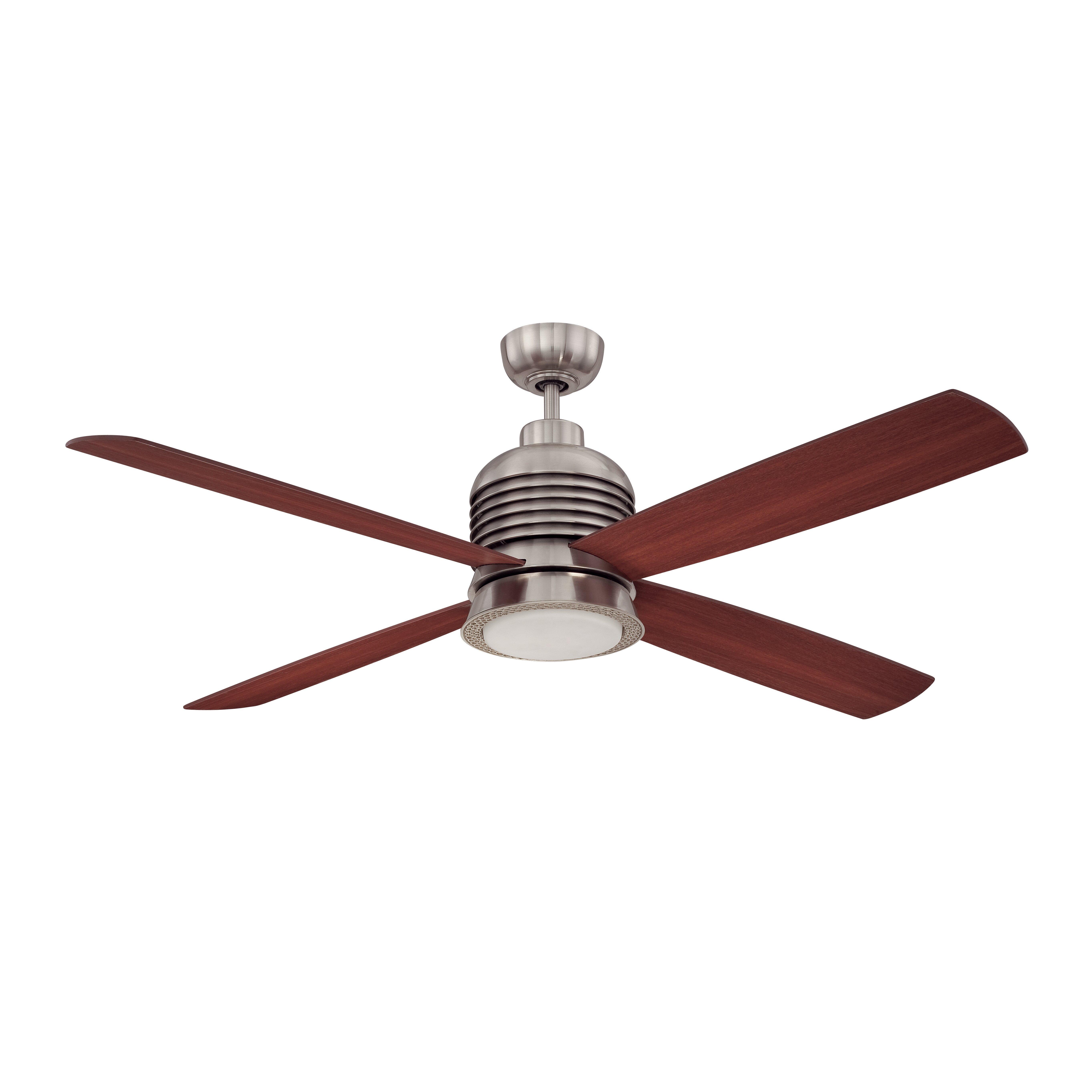 "Ellington 56"" Metron 4 Blade Ceiling Fan With Wall Remote"