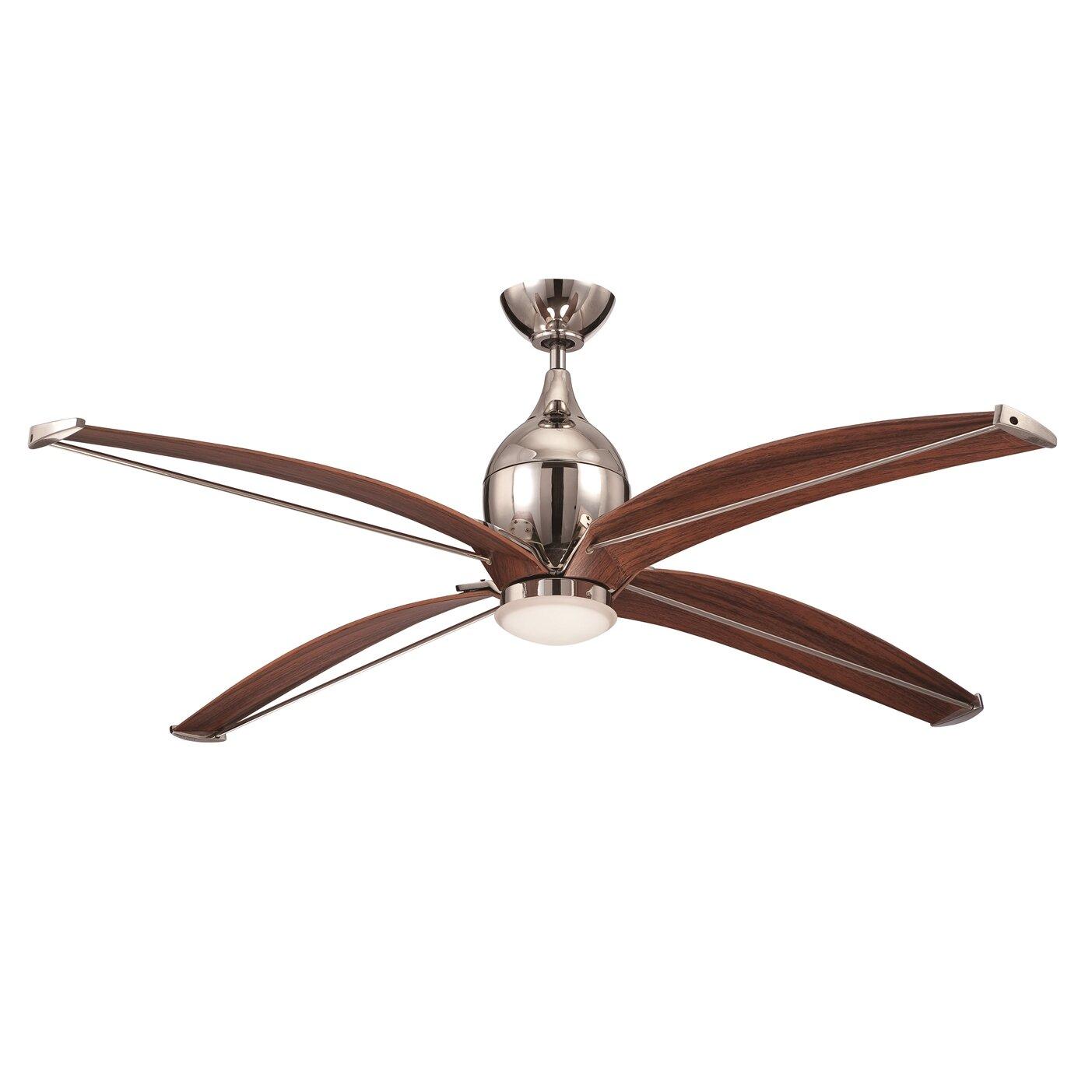 "Ellington 60"" Tyrod 4 Blade Ceiling Fan With Wall Remote"