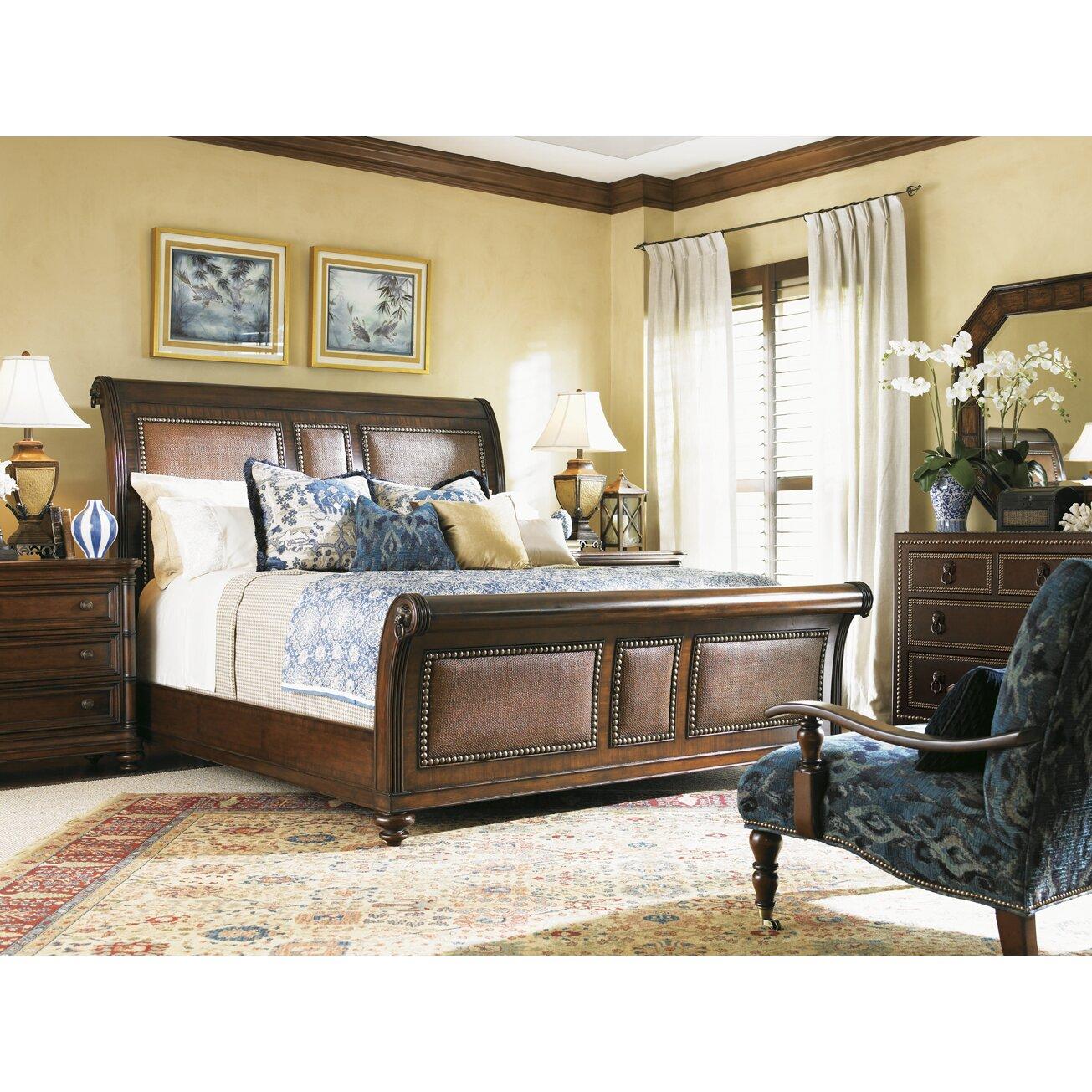 tommy bahama home landara sleigh customizable bedroom set reviews wayfair. Black Bedroom Furniture Sets. Home Design Ideas