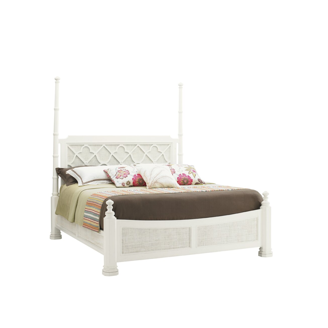 Tommy bahama home ivory key panel bed reviews wayfair for Home furniture beds
