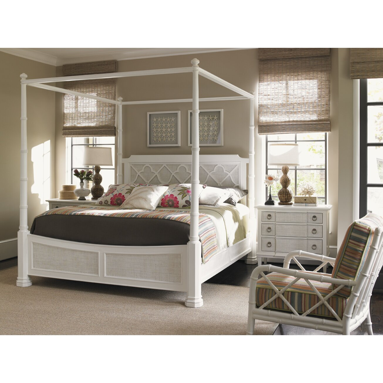 tommy bahama home ivory key panel bed reviews wayfair. Black Bedroom Furniture Sets. Home Design Ideas