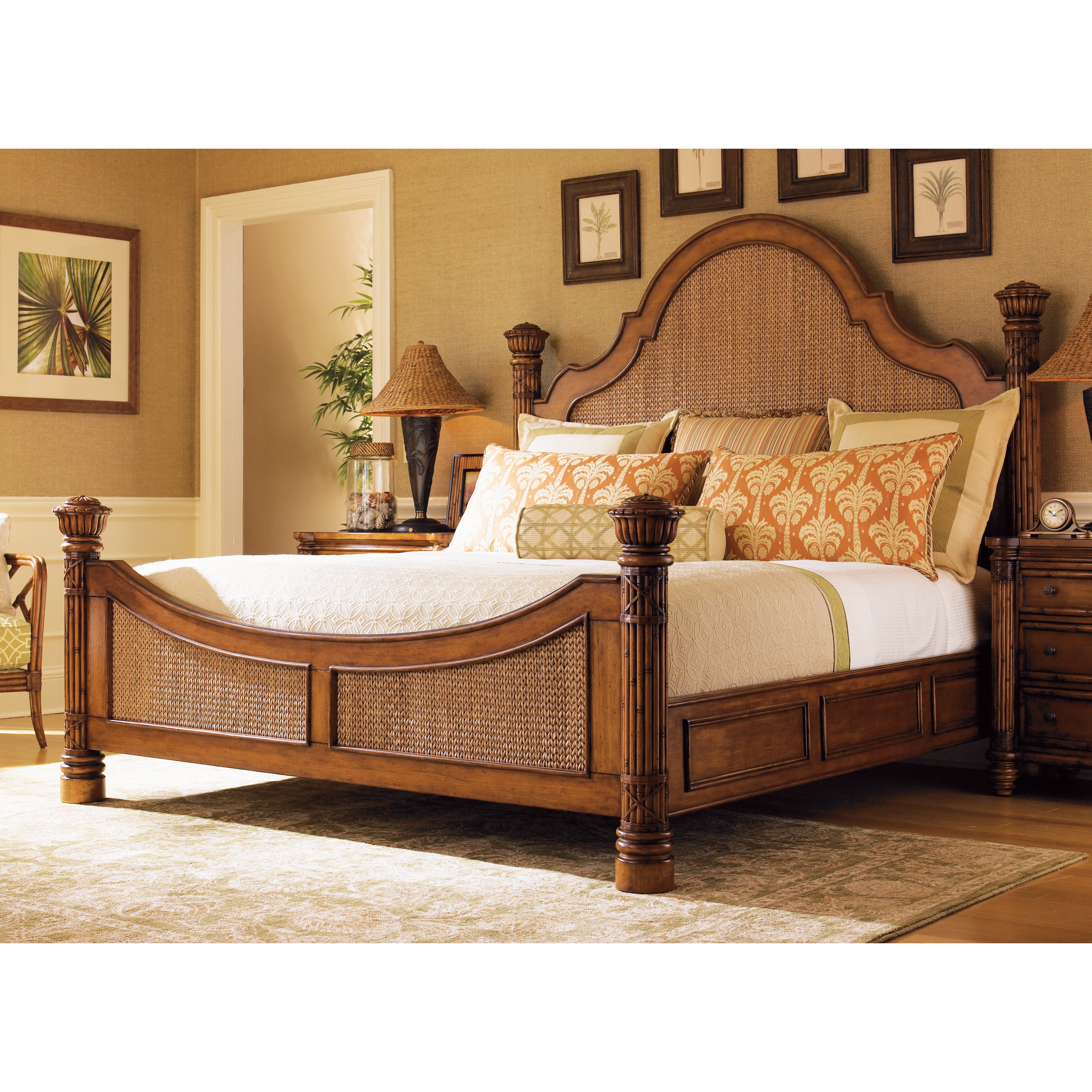 Tommy Bahama Home Island Estate Panel Customizable Bedroom