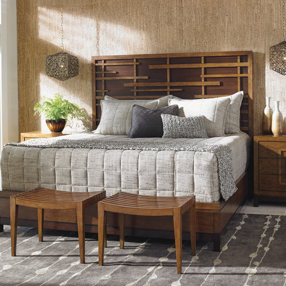 Tommy Bahama Home Island Fusion Panel Customizable Bedroom