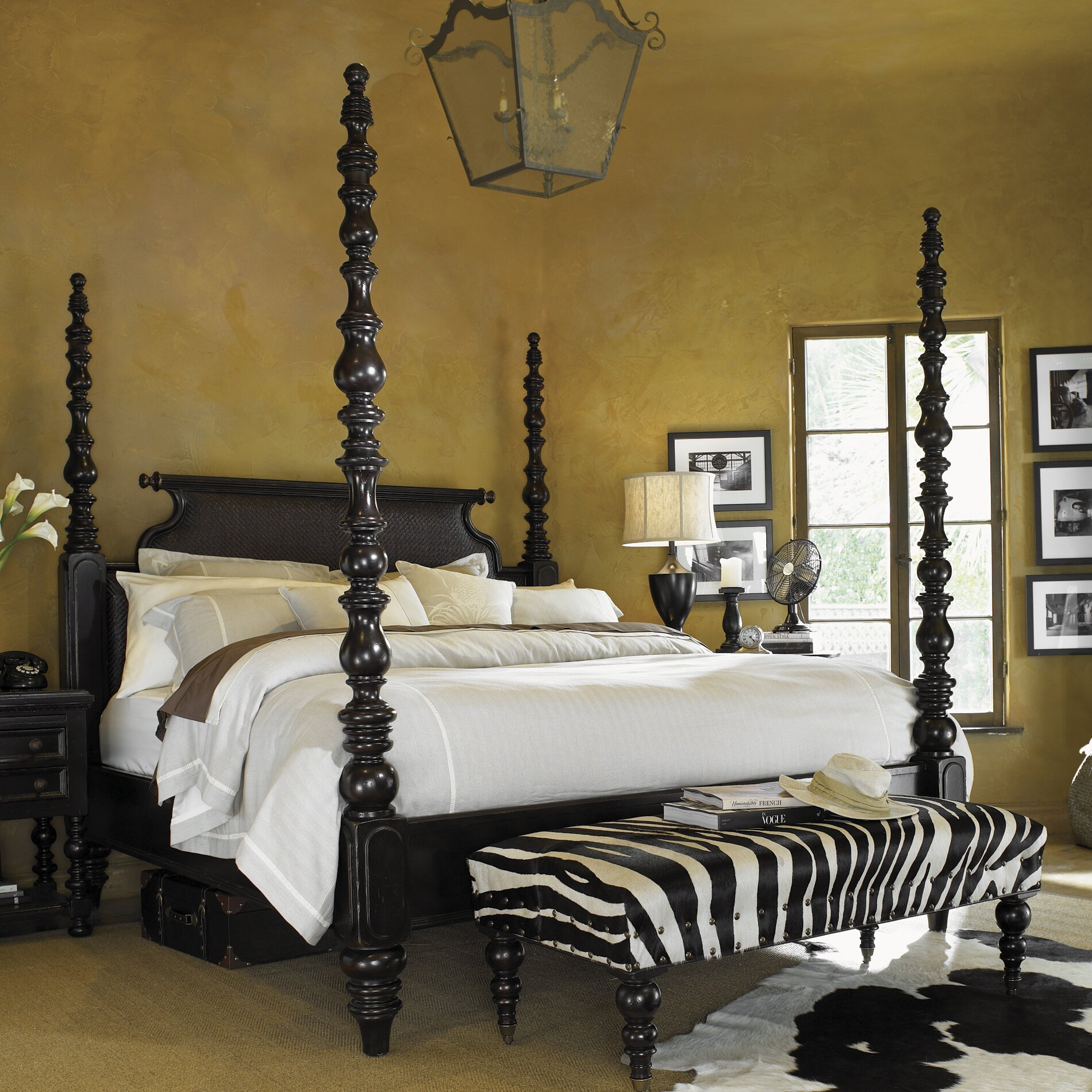 Tommy bahama home kingstown four poster bed reviews - Four poster king size bedroom sets ...