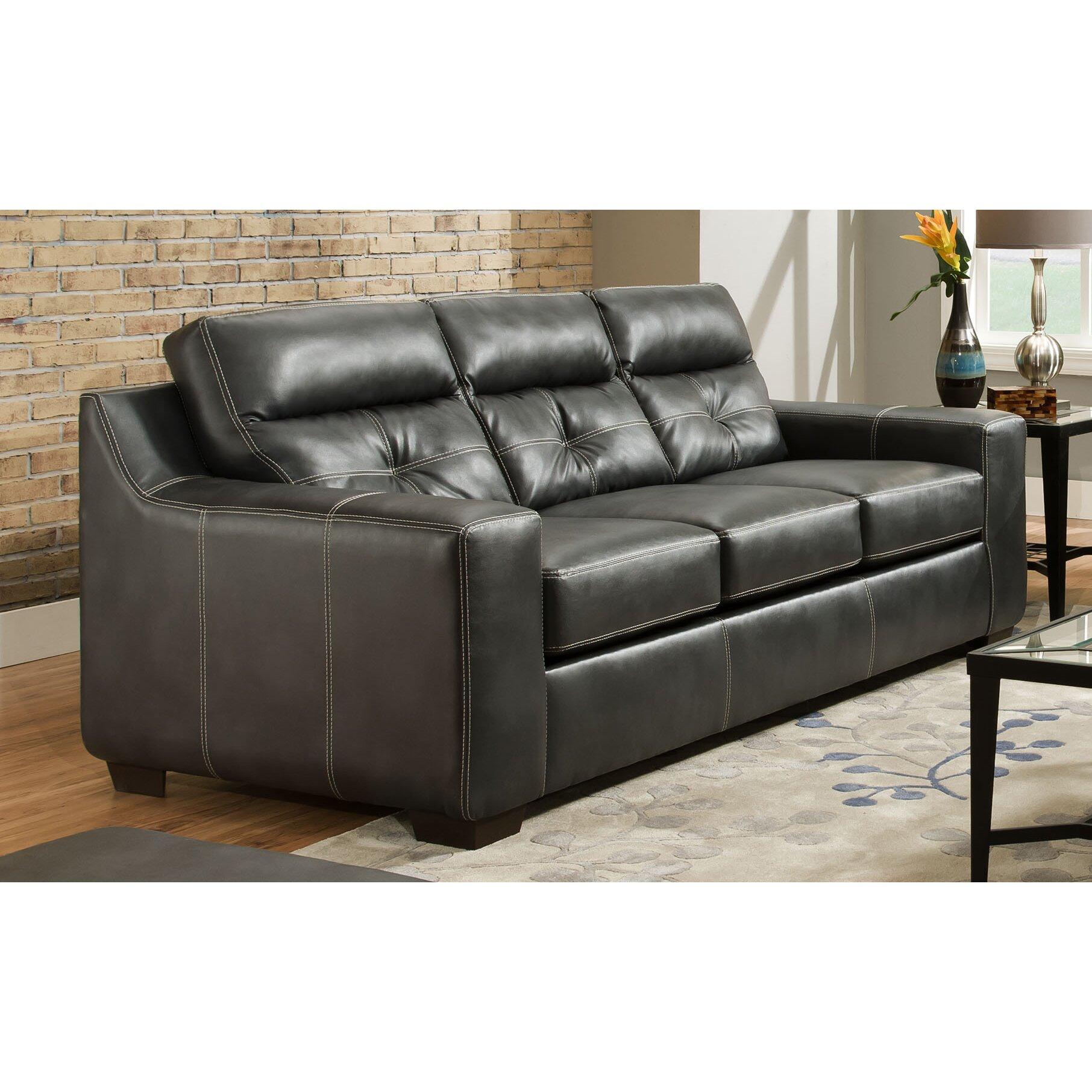 Chelsea home aragon leather sofa wayfair for Chelsea leather sofa