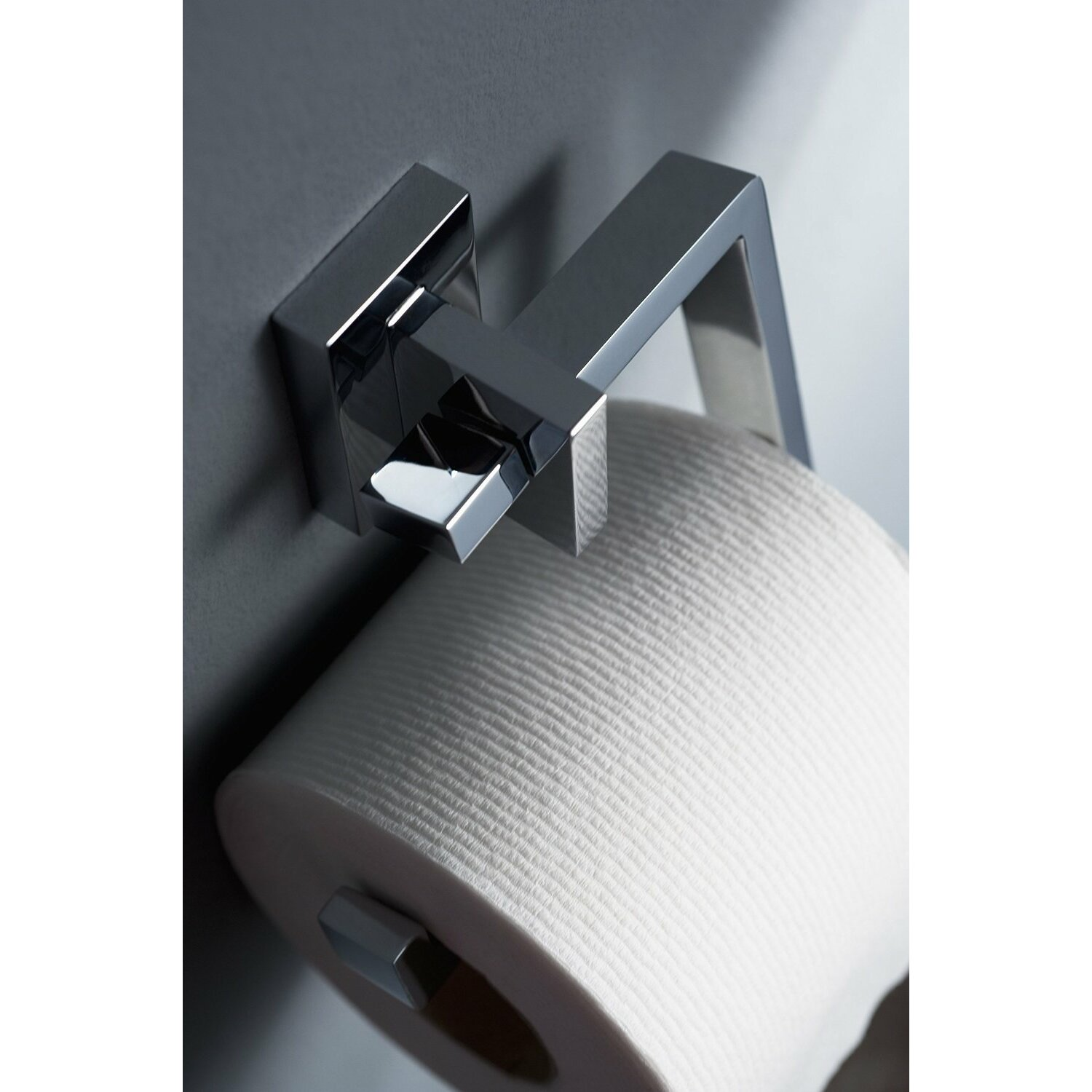 Haceka Edge Wall Mounted Toilet Roll Holder In Chrome Amp Reviews Wayfair Uk