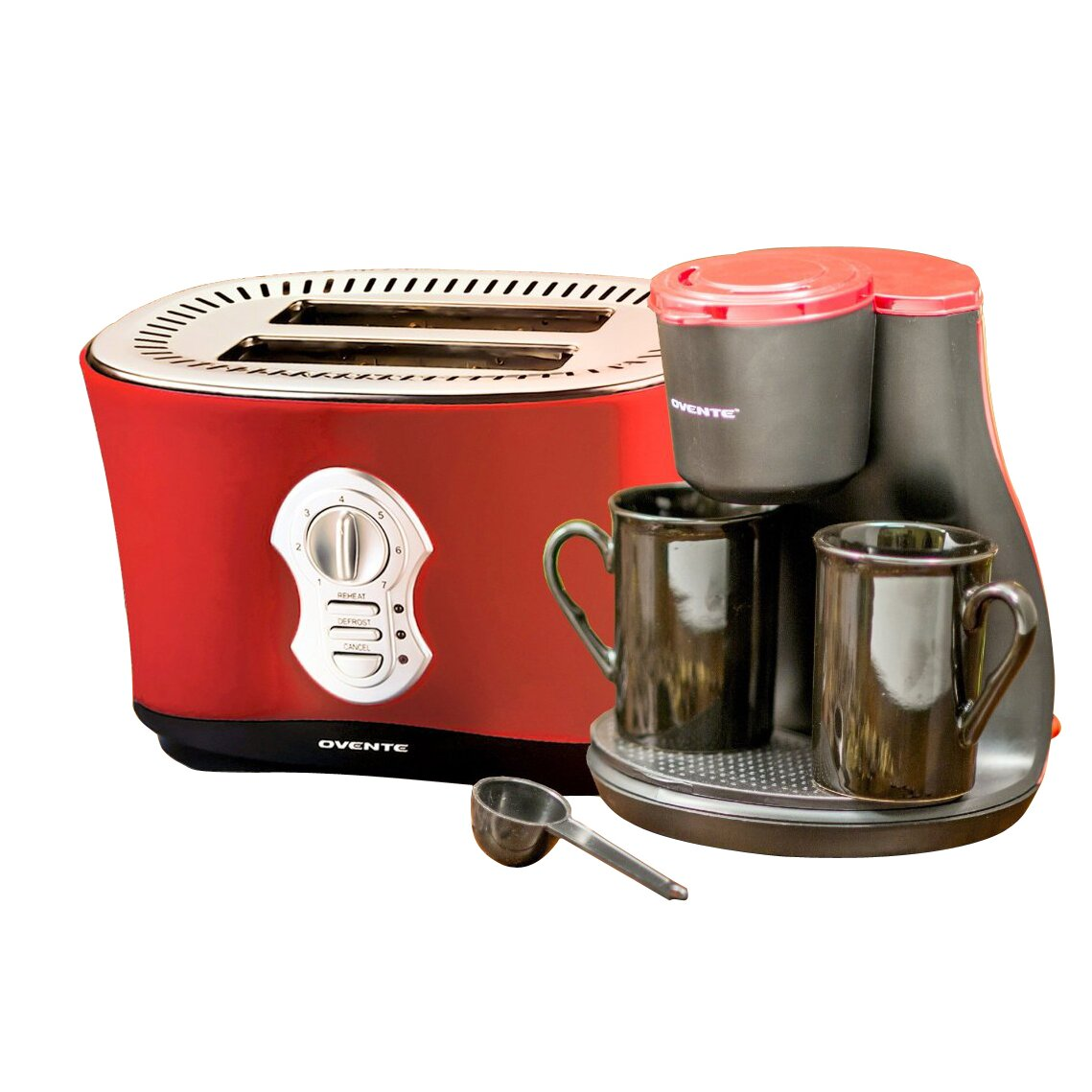 Ovente 2 Cup Coffee Maker with 2-Slice Toaster & Reviews Wayfair
