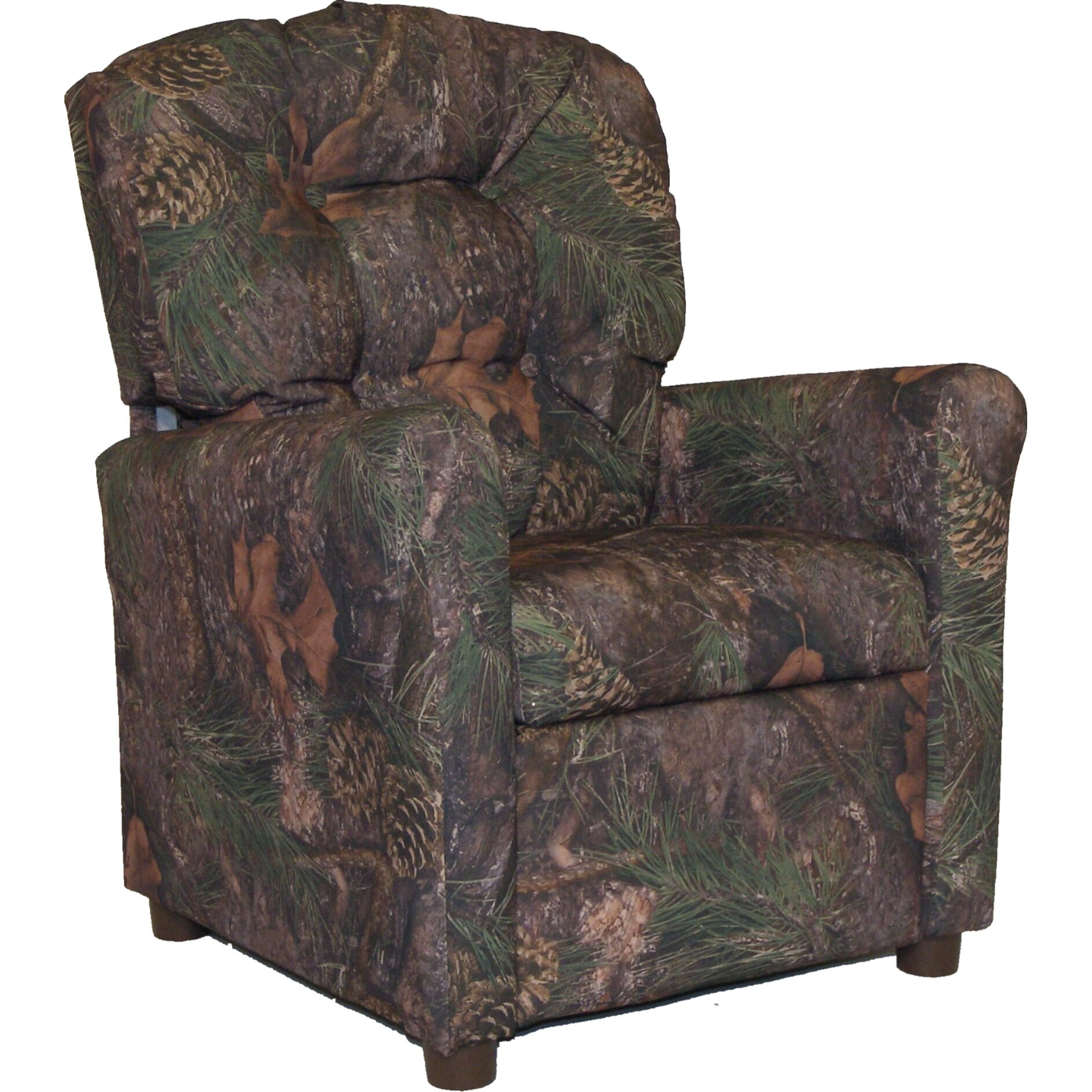 Youth camo recliner kidz world mossy oak camouflage kid for Camo chaise lounge