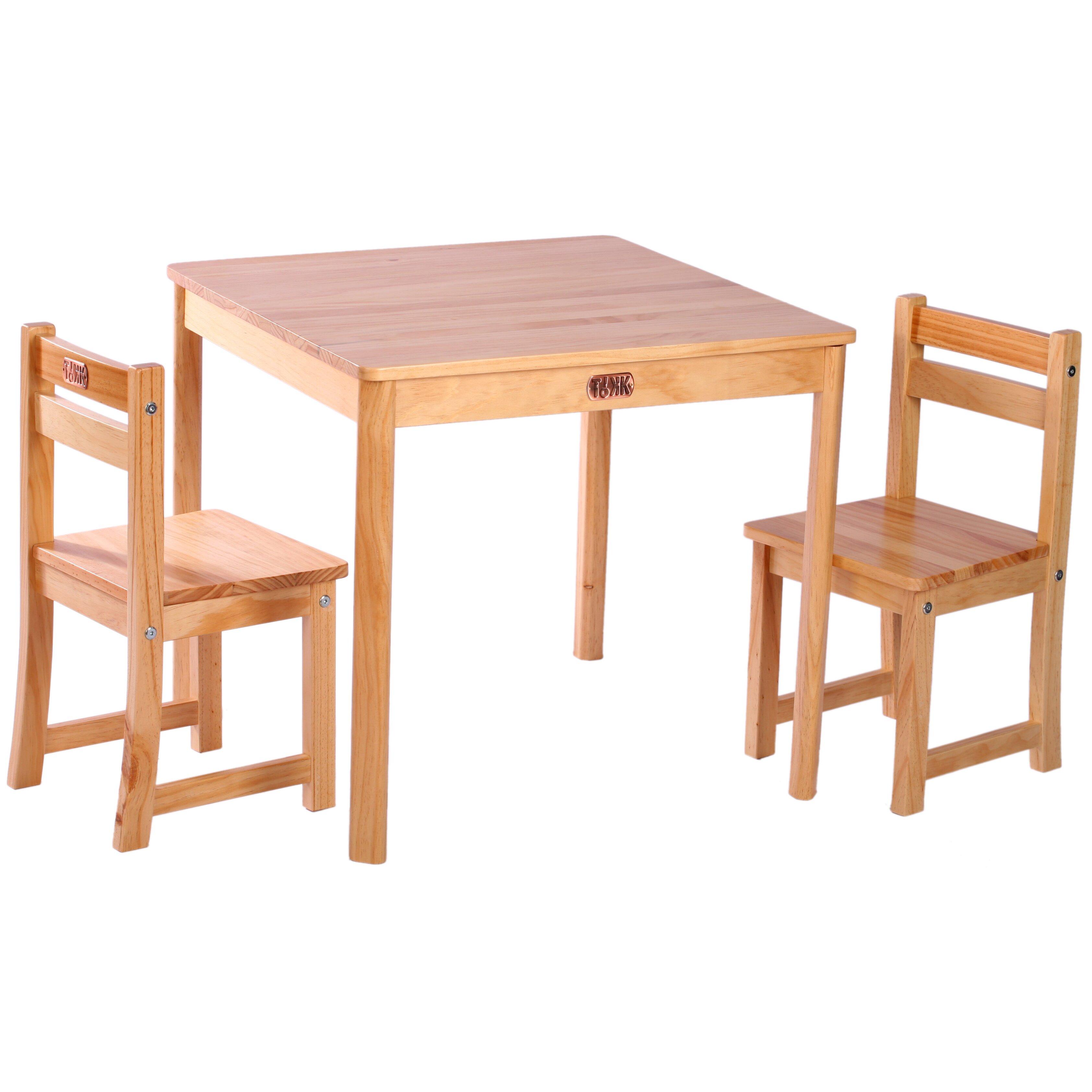 Tikk tokk boss children 39 s 3 piece table and chair set for Table et chaise en bois