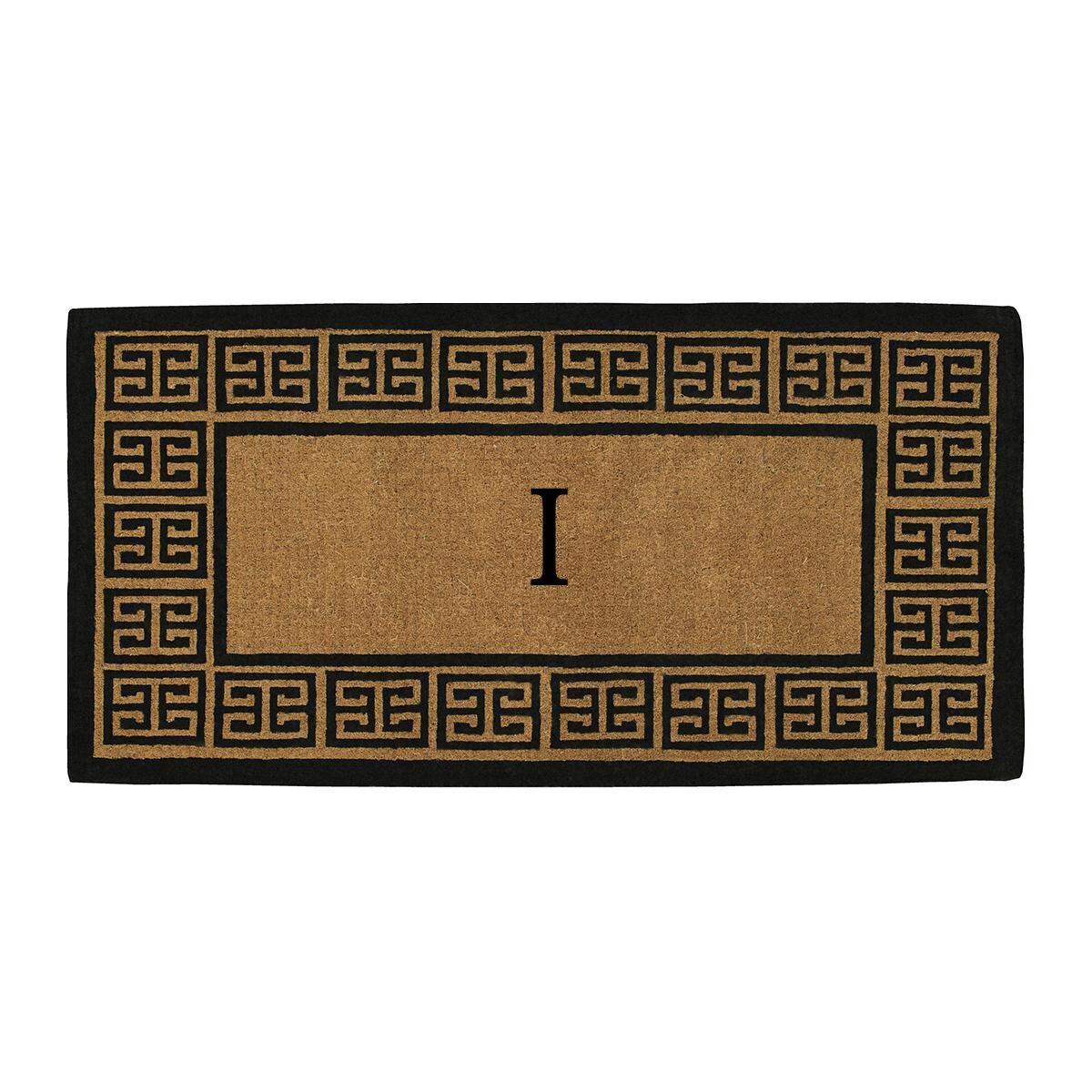 home more monogram doormat reviews wayfair. Black Bedroom Furniture Sets. Home Design Ideas