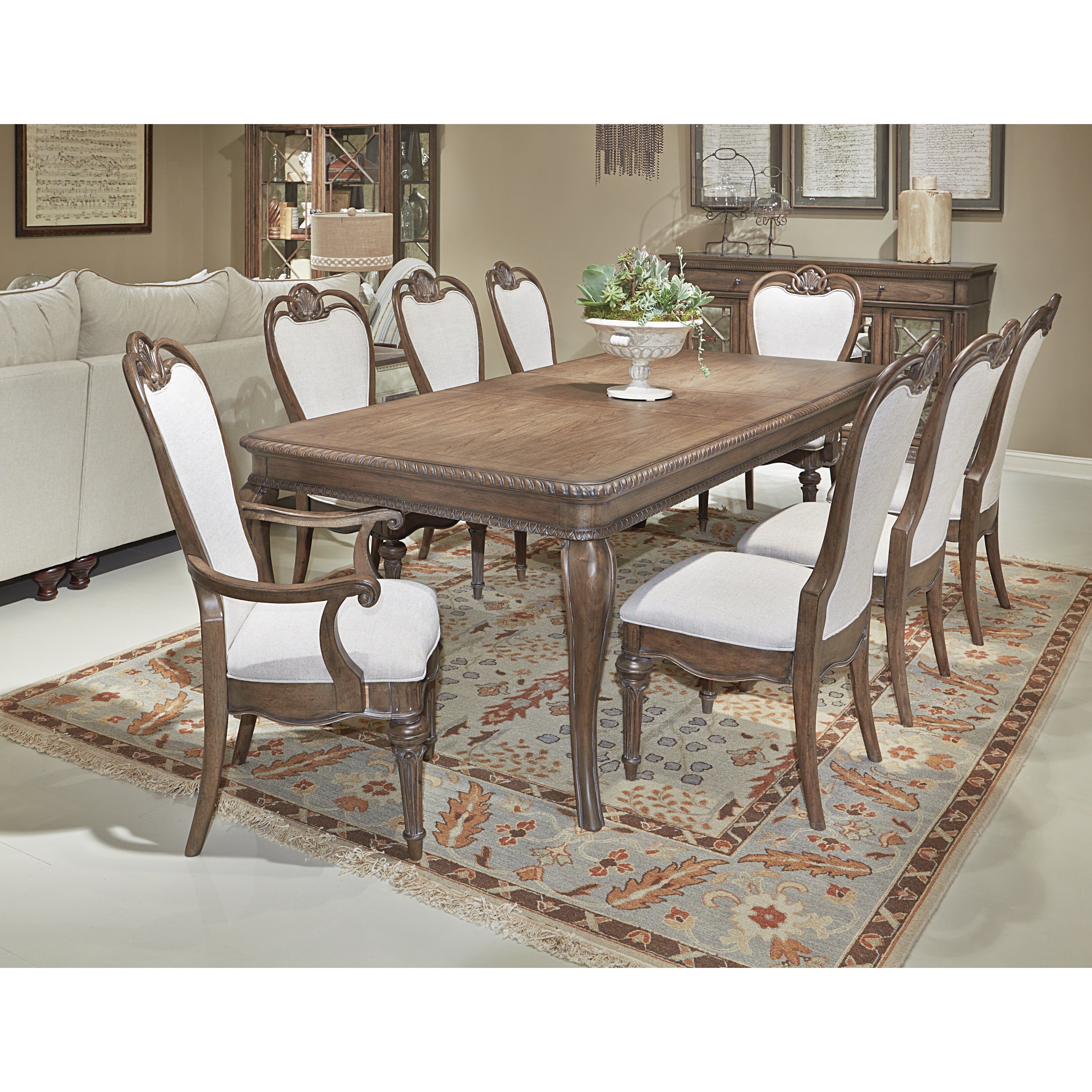 Legacy classic furniture renaissance extendable dining for Legacy classic dining room furniture