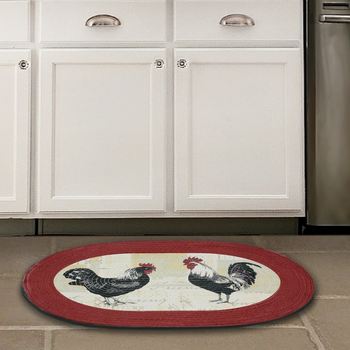 Achim Importing Co Rooster Red Area Rug & Reviews