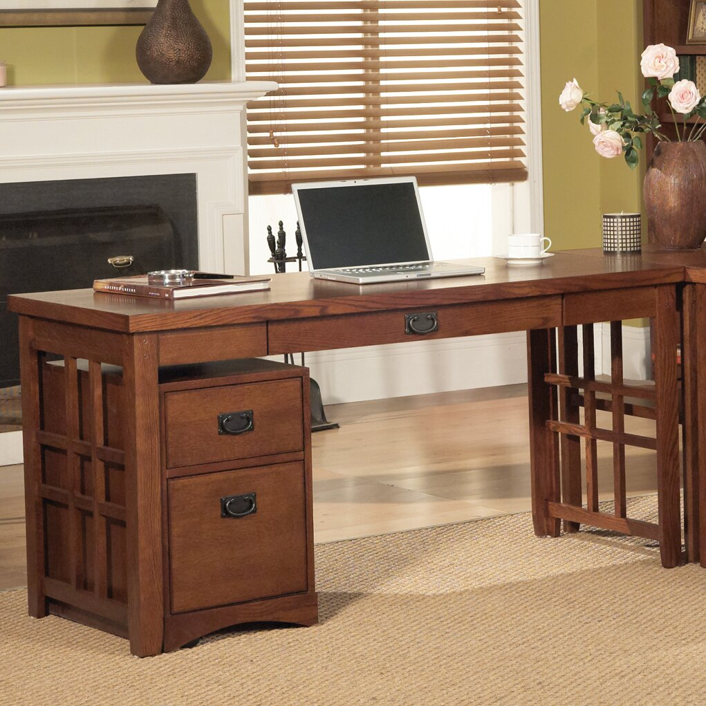 by martin furniture mission pasadena computer desk with keyboard tray