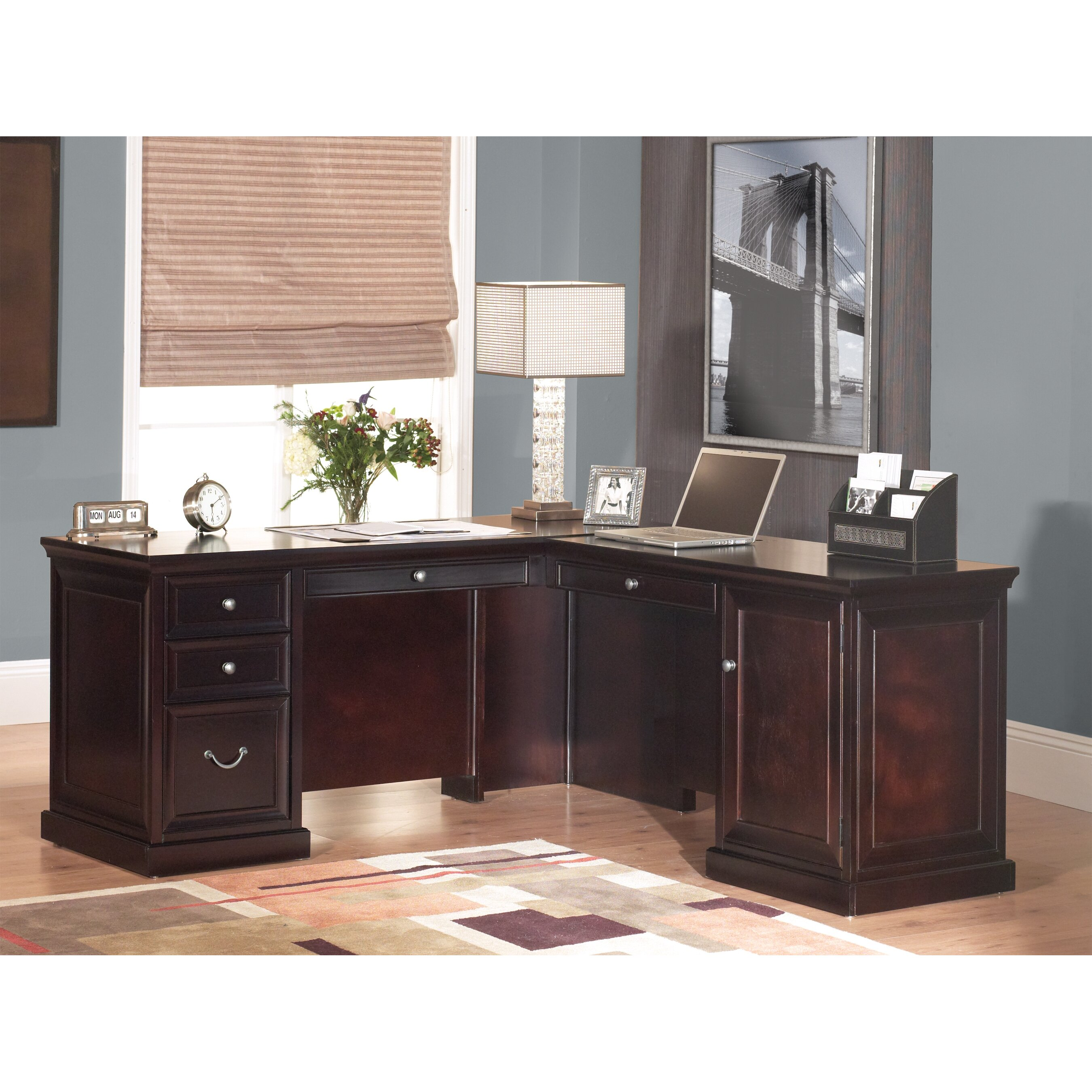 Kathy Ireland Home By Martin Furniture Fulton Right Hand Facing L Shaped Executive Desk