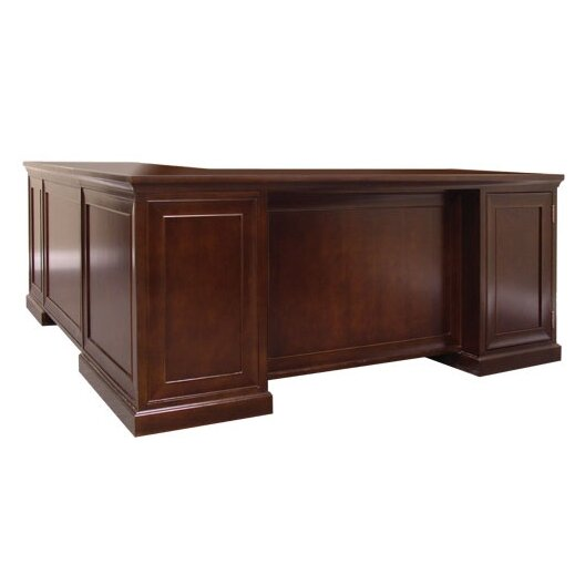 Kathy Ireland Home By Martin Furniture Fulton Double Pedestal L Shaped Computer Desk Reviews