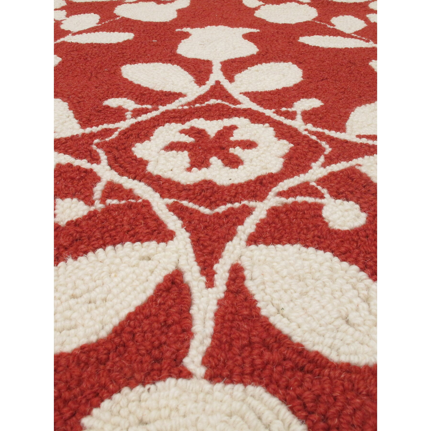 Ecarpetgallery samarkand cream red abstract area rug wayfair for Cream and red rugs