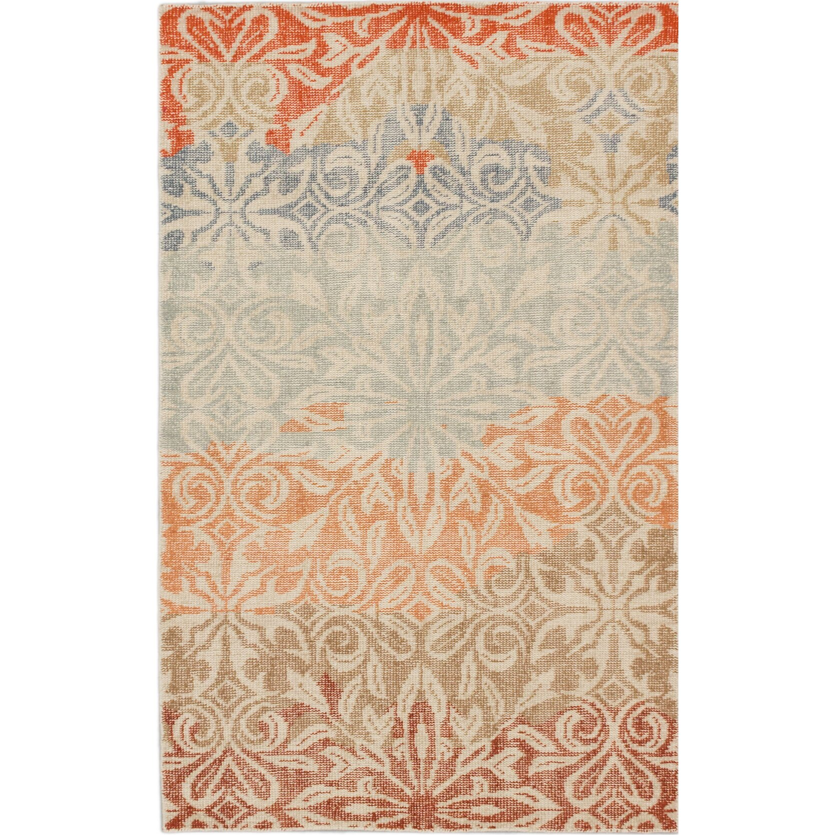 ecarpetgallery jules ushak hand knotted blue orange area rug wayfair. Black Bedroom Furniture Sets. Home Design Ideas