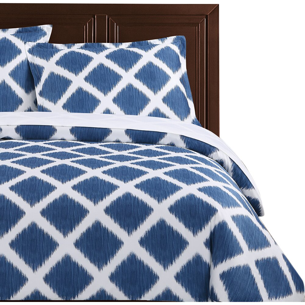 Echelon Home Diamond Ikat Duvet Cover Set & Reviews | Wayfair