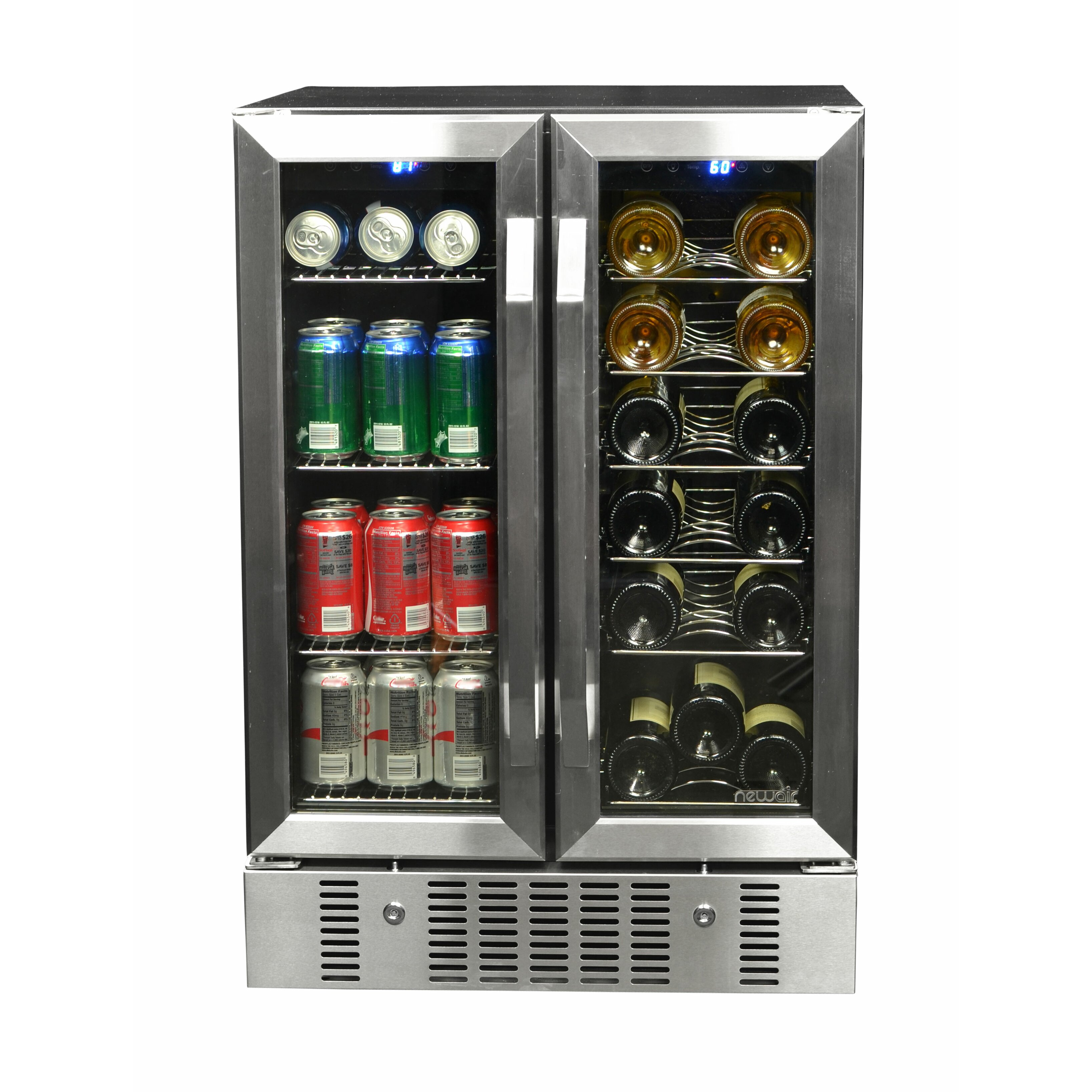 Newair 18 Bottle Dual Zone Built In Wine Refrigerator