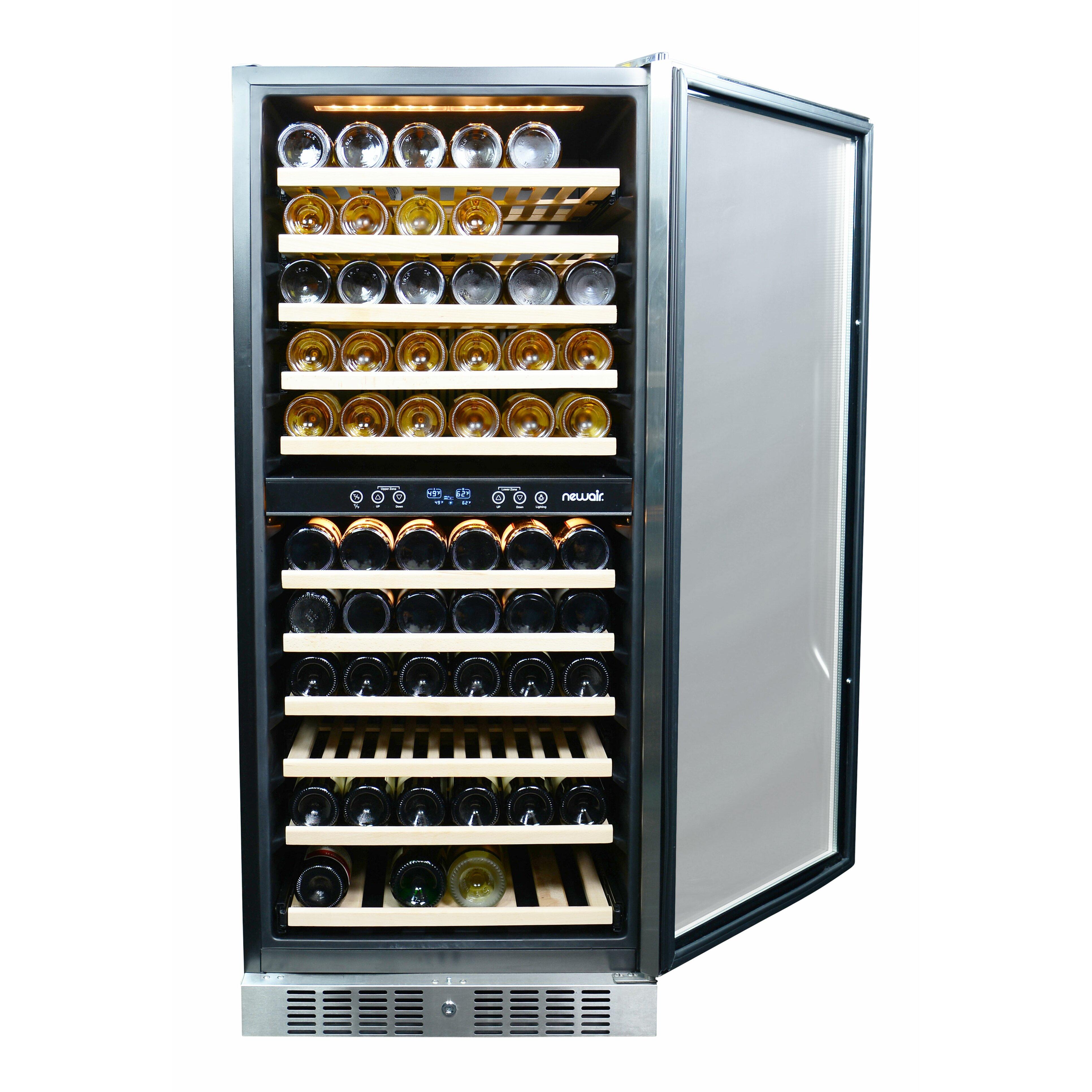newair 116 bottle dual zone built in wine refrigerator reviews wayfair. Black Bedroom Furniture Sets. Home Design Ideas
