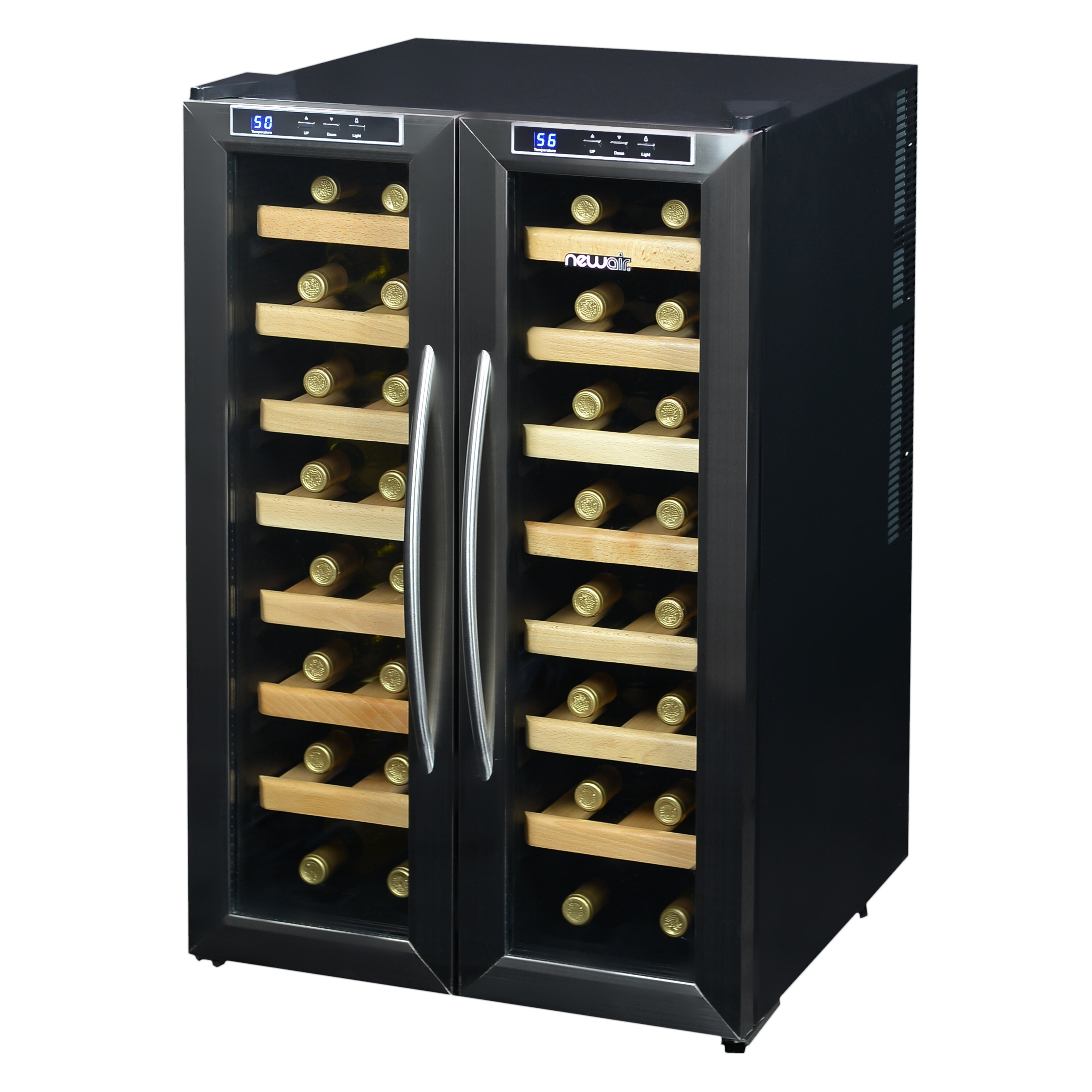 newair 32 bottle dual zone freestanding wine refrigerator reviews wayfair. Black Bedroom Furniture Sets. Home Design Ideas