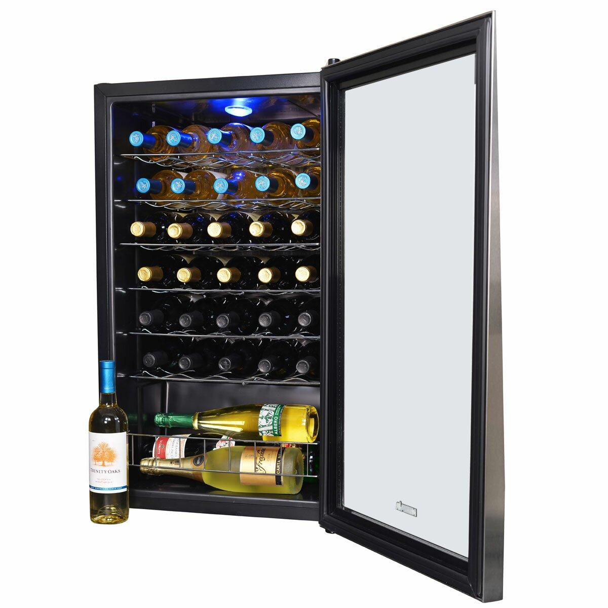 Newair 33 Bottle Single Zone Freestanding Wine