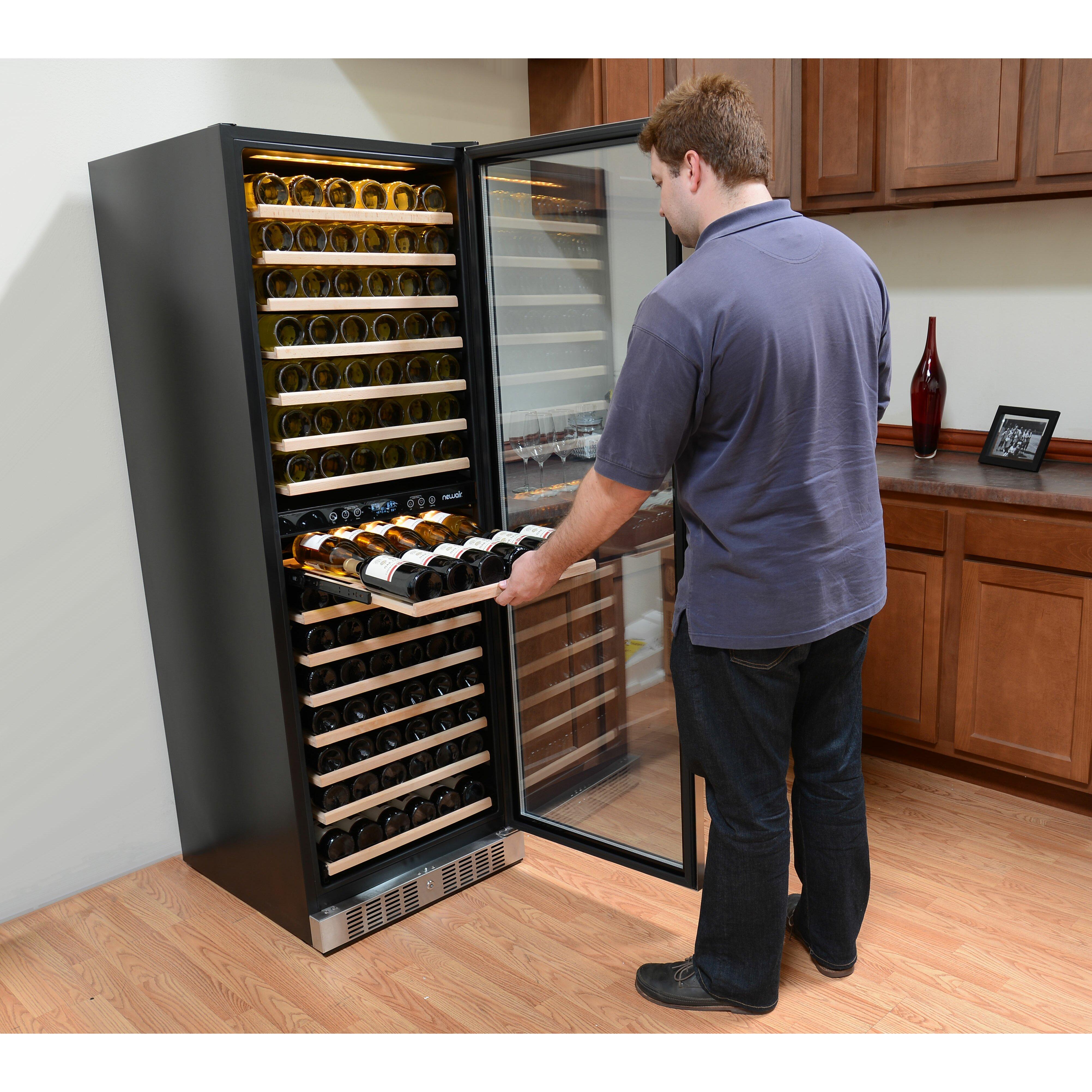 newair 160 bottle dual zone built in wine refrigerator reviews wayfair. Black Bedroom Furniture Sets. Home Design Ideas