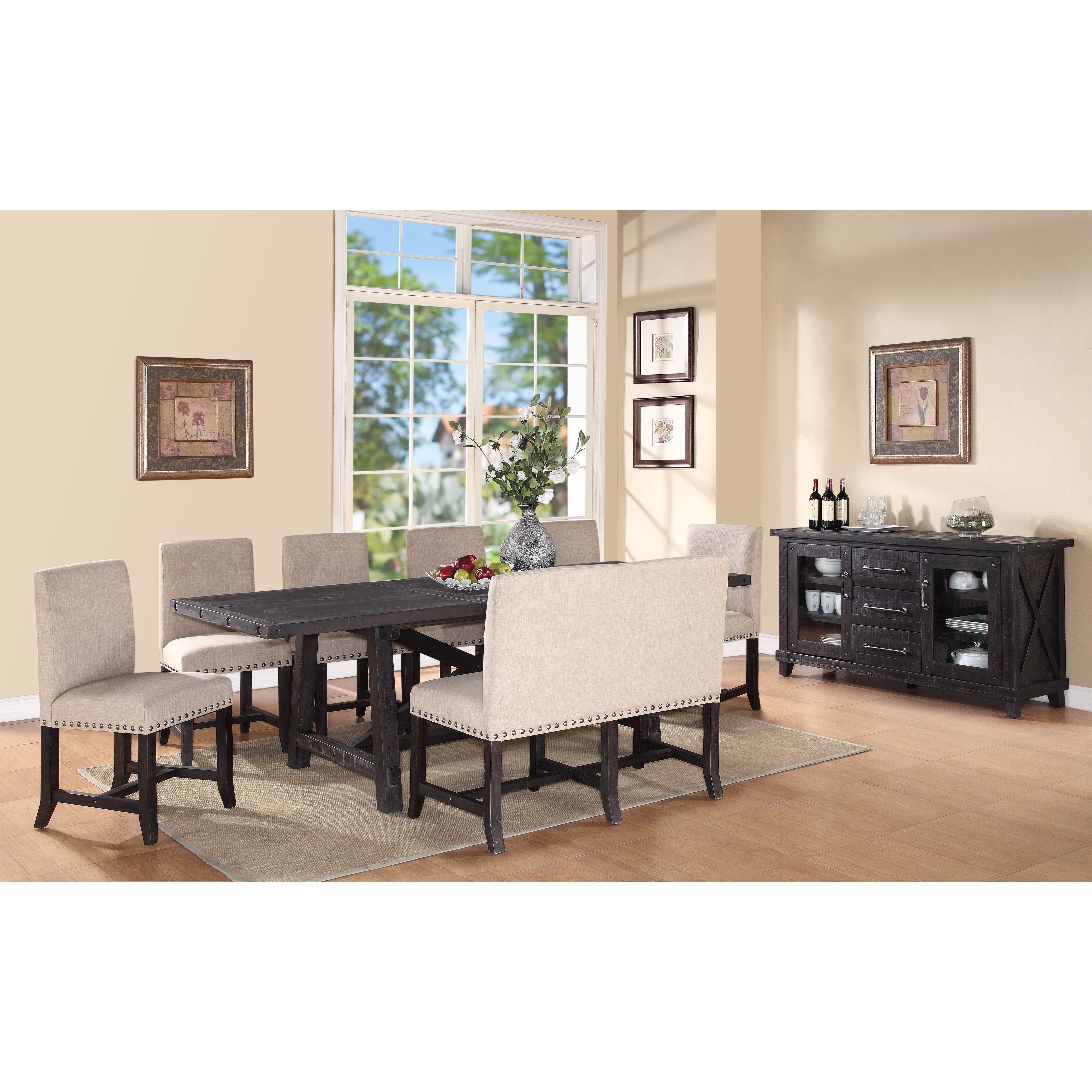 Trent austin design del rio 8 piece dining set reviews wayfair - Dining room sets austin tx ...