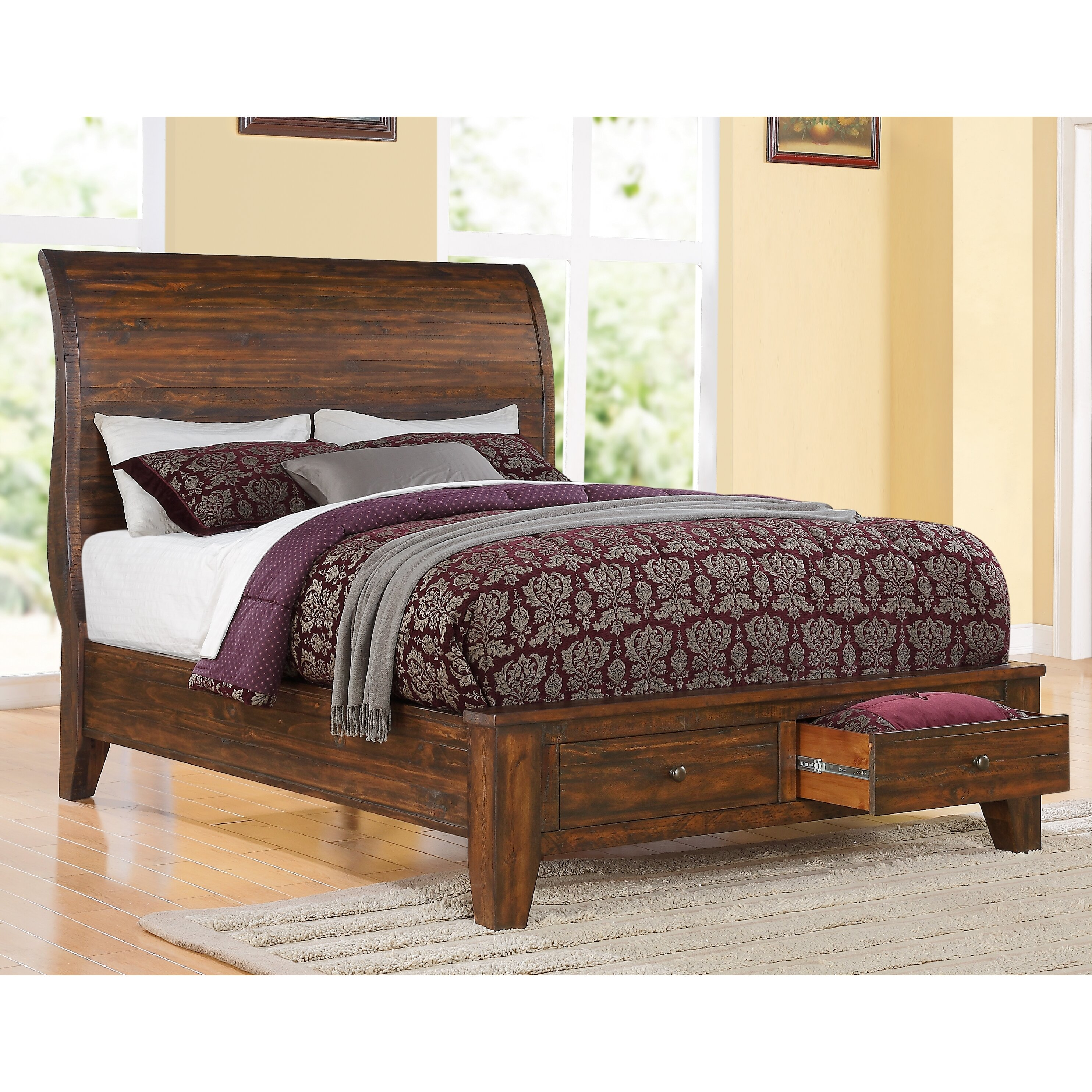 Modus cally storage platform bed reviews - Platform bedroom sets with storage ...