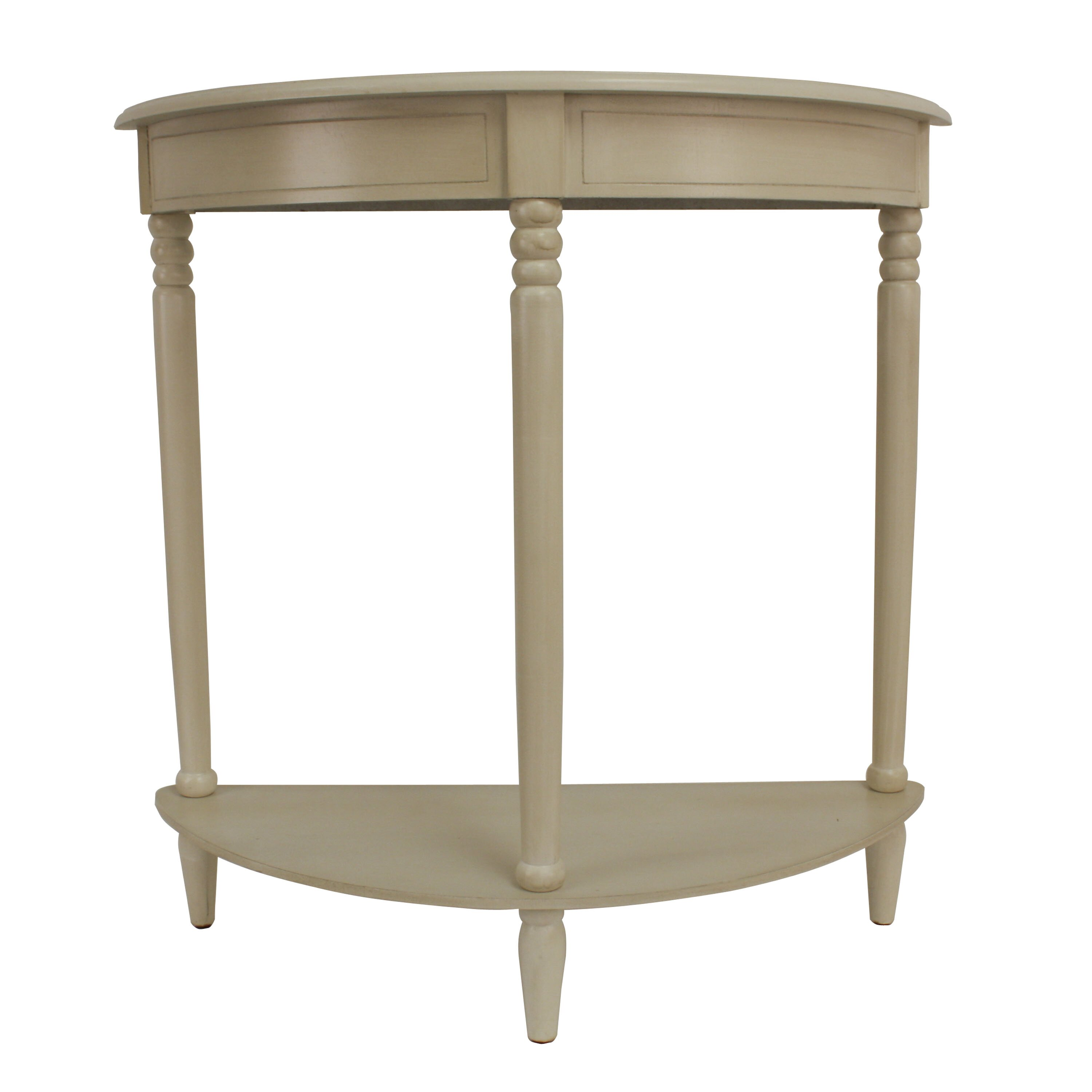 Decor therapy simplicity half moon console table reviews for Half moon console table