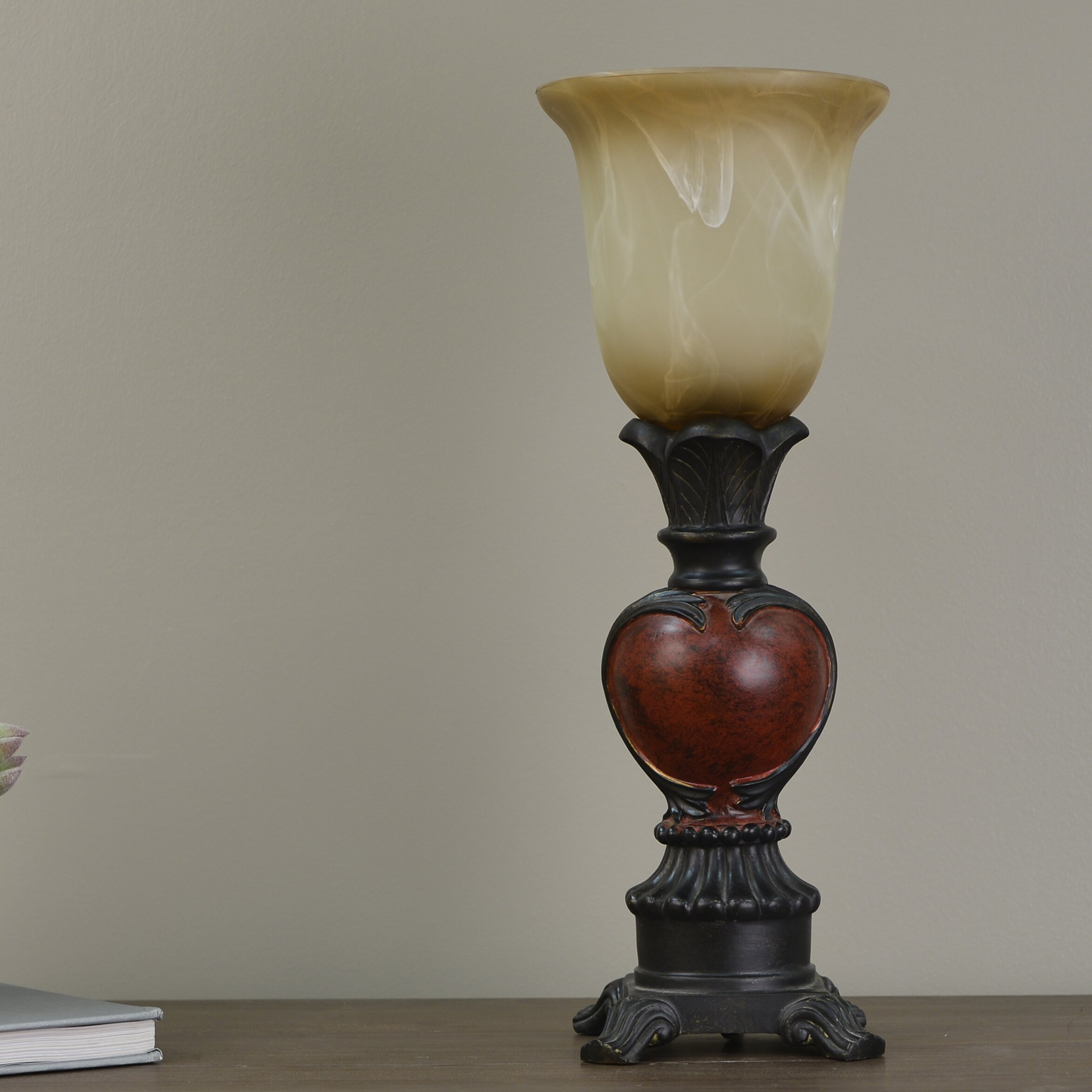 Decor therapy uplight 16 table lamp reviews wayfair for Decor therapy