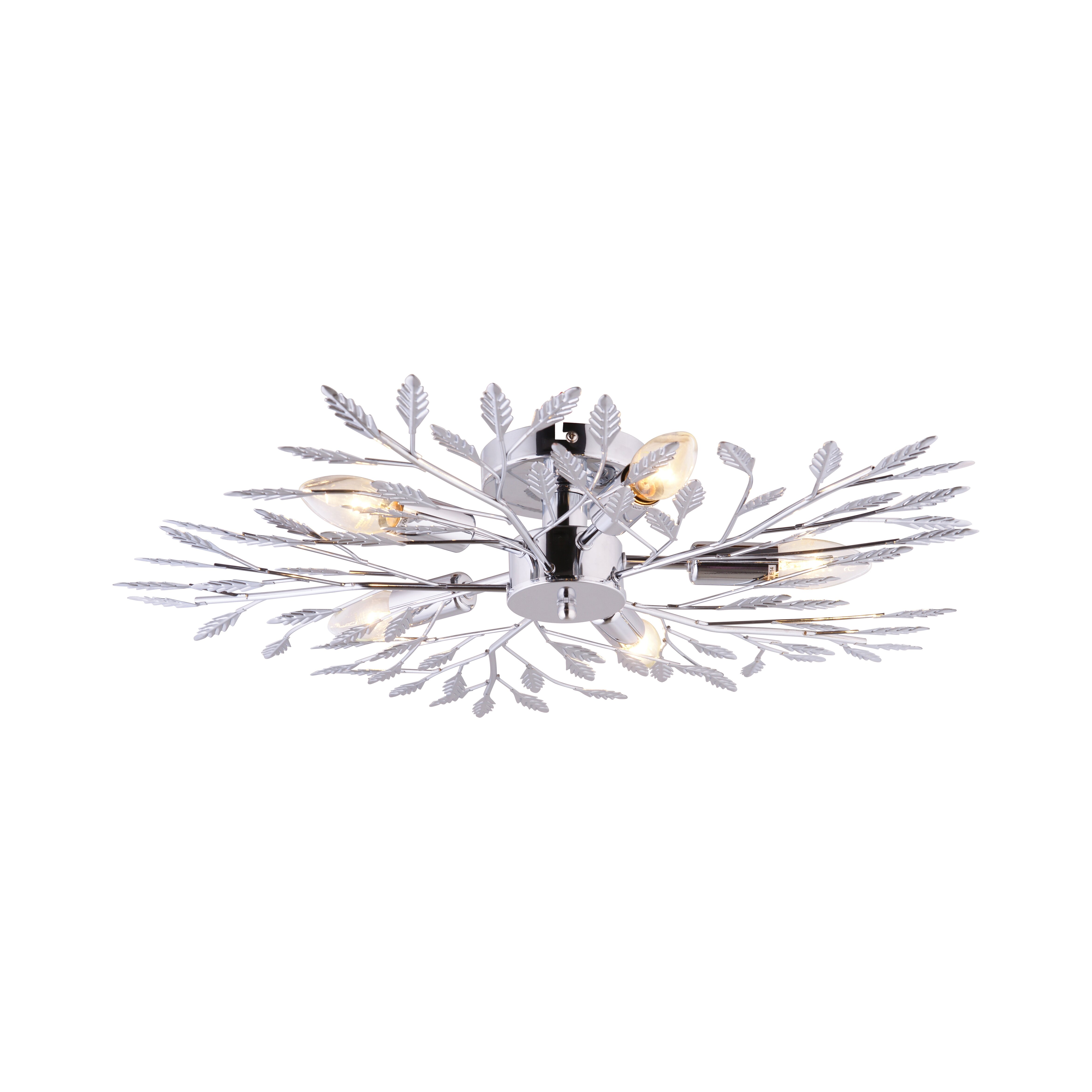leuchten direkt florence 5 light semi flush ceiling light