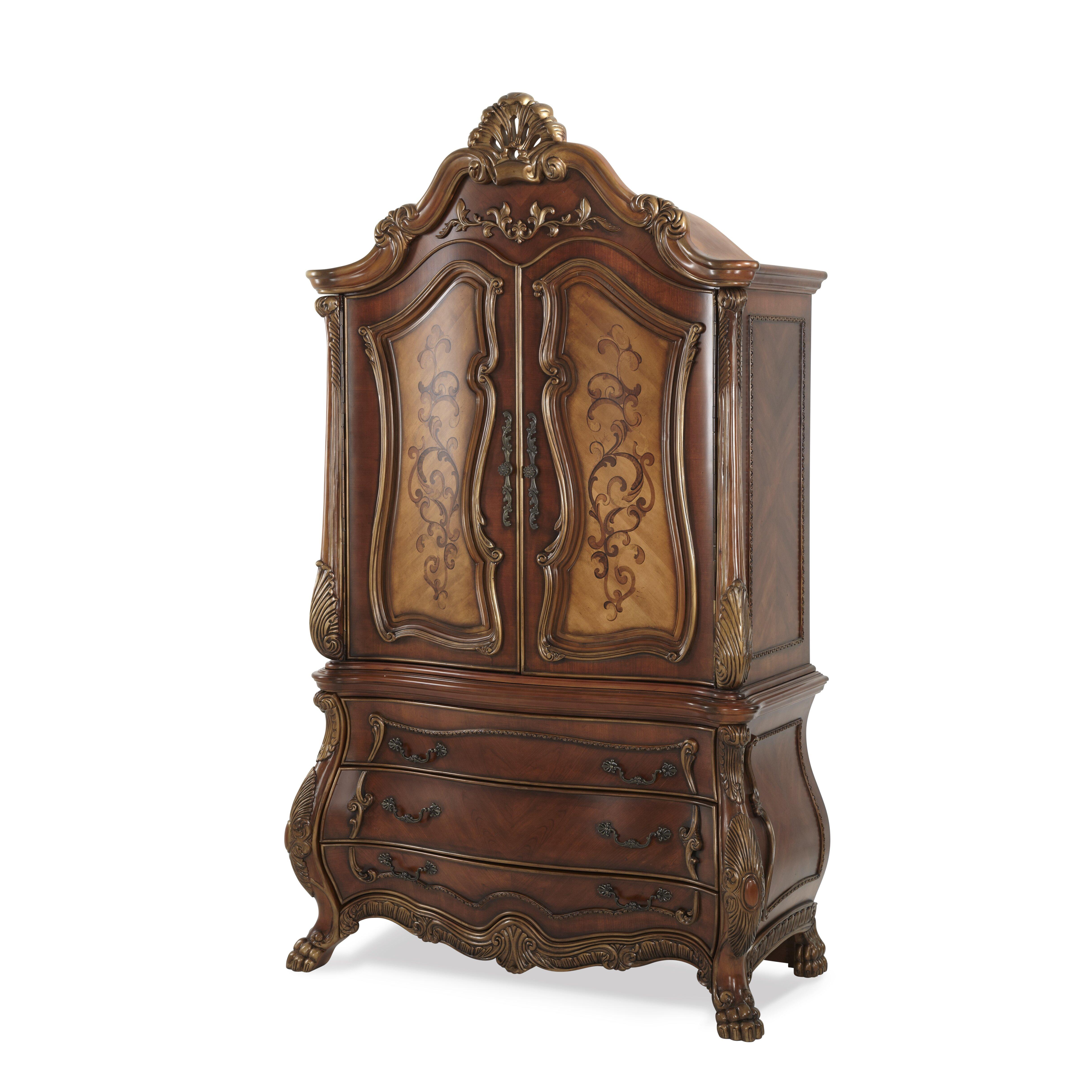 Michael amini chateau beauvais armoire reviews wayfair - Chateau beauvais living room furniture ...