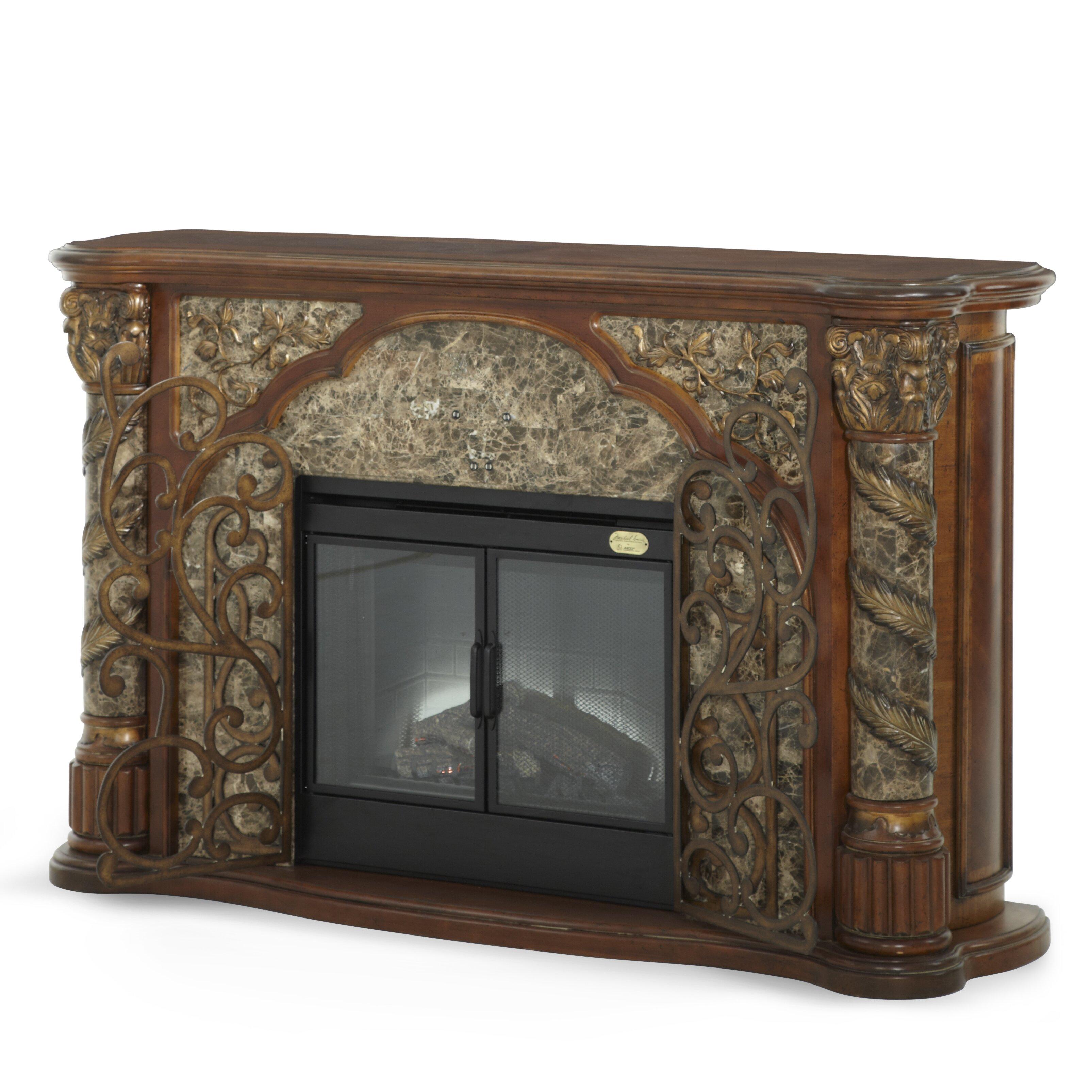 Michael Amini Villa Valencia Decorative Electric Fireplace Reviews Wa