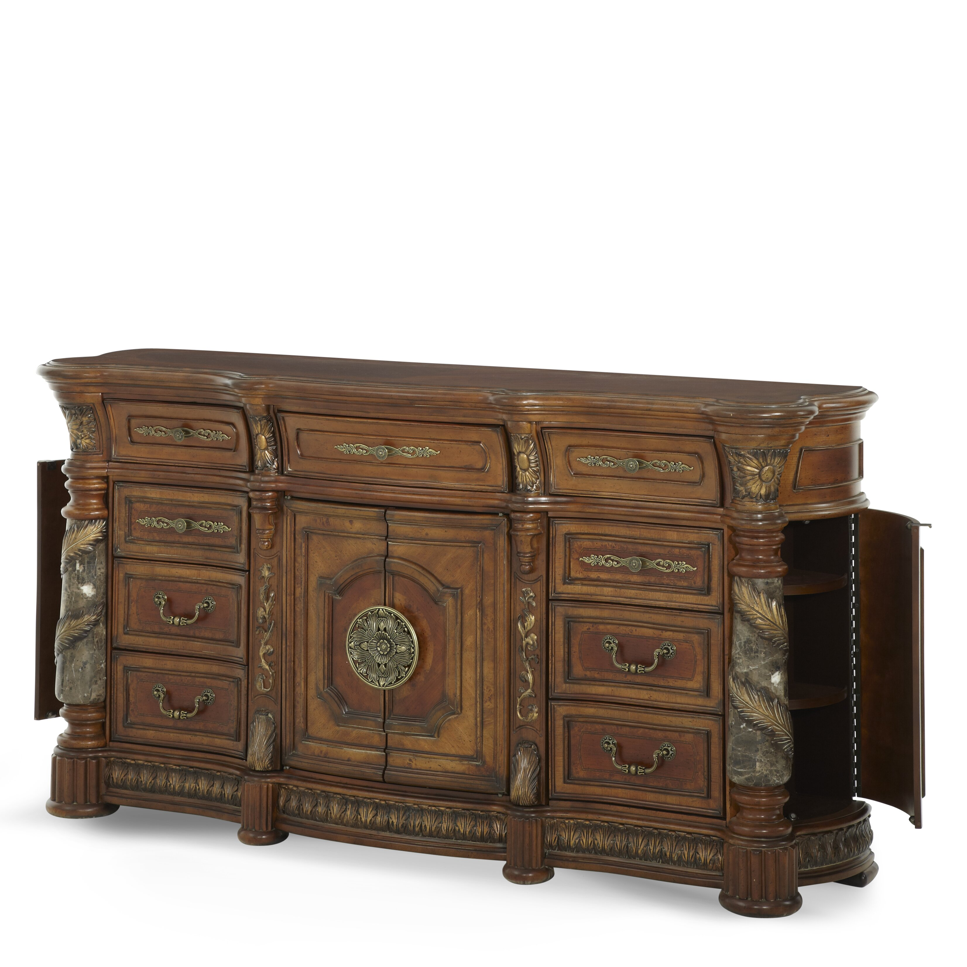 Michael Amini Villa Valencia 9 Drawer Dresser Wayfair