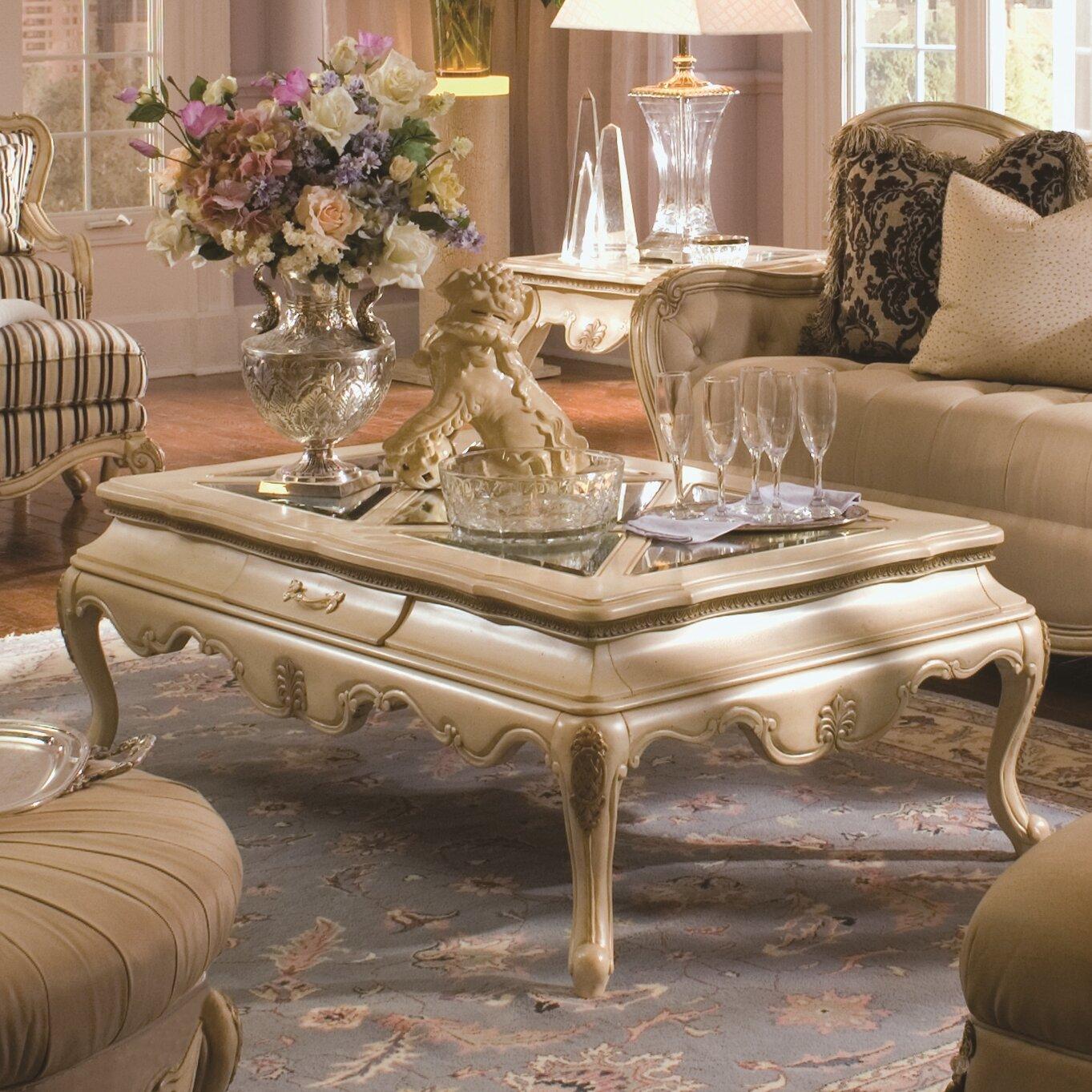 Michael Amini Lavelle Rectangular Coffee Table Wayfair