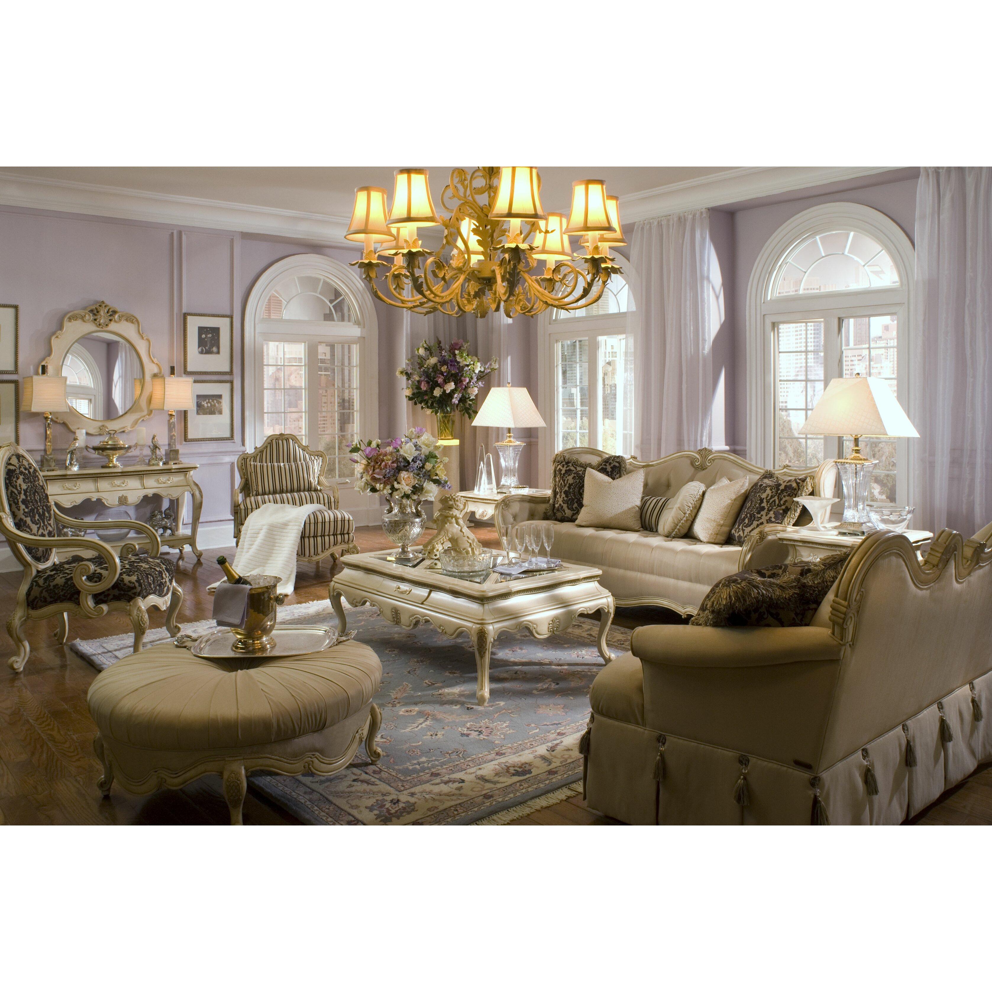 Michael Amini Living Room Set Michael Amini Lavelle Sofa And Settee Set Reviews Wayfair
