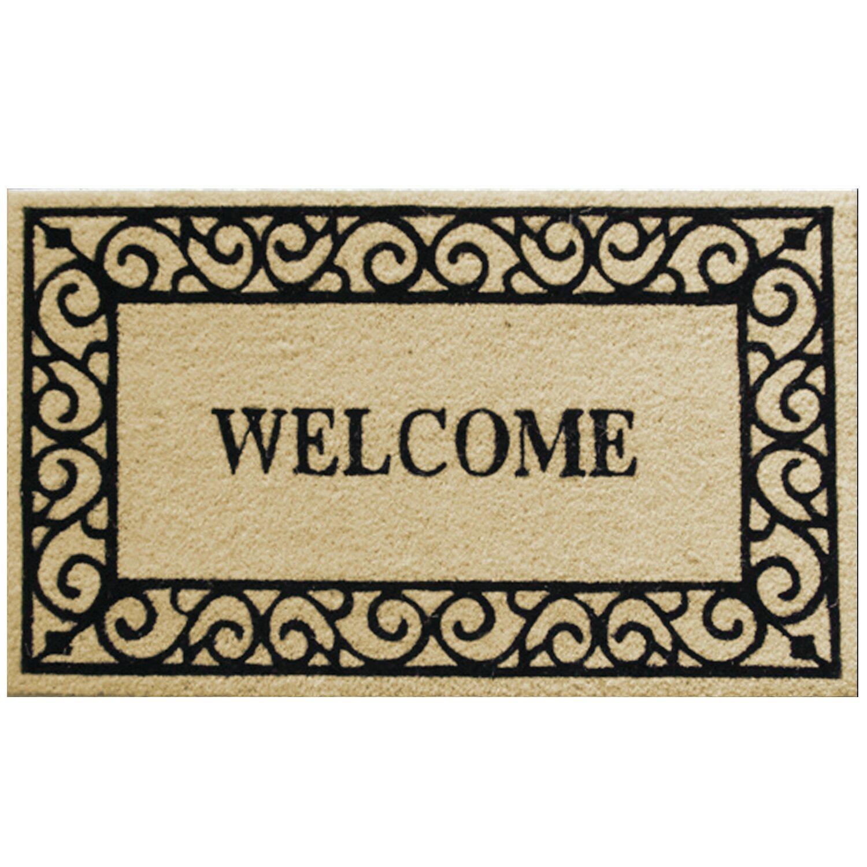 Robert Allen Home And Garden Scroll Welcome Doormat Reviews Wayfair