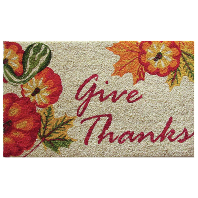 Robert Allen Home And Garden Give Thanks Doormat Reviews Wayfair