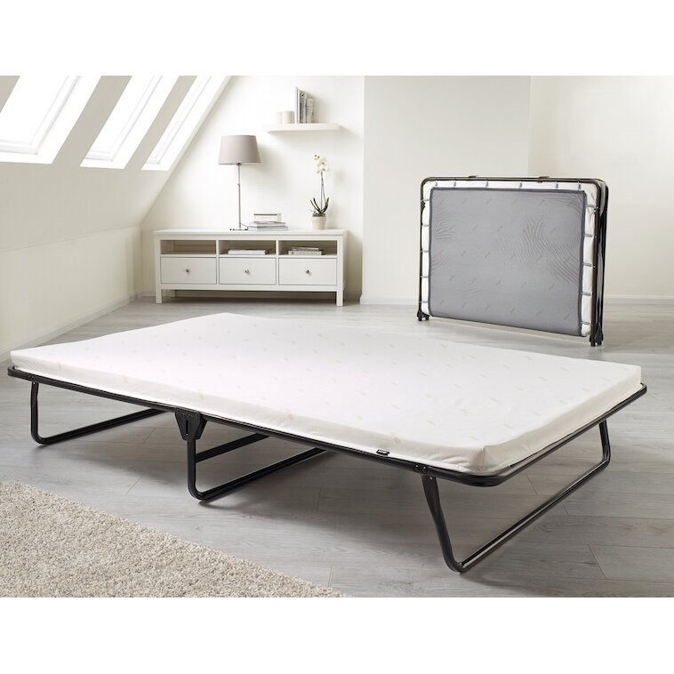 Folding Beds Reviews : Jay be saver folding bed with memory foam mattress