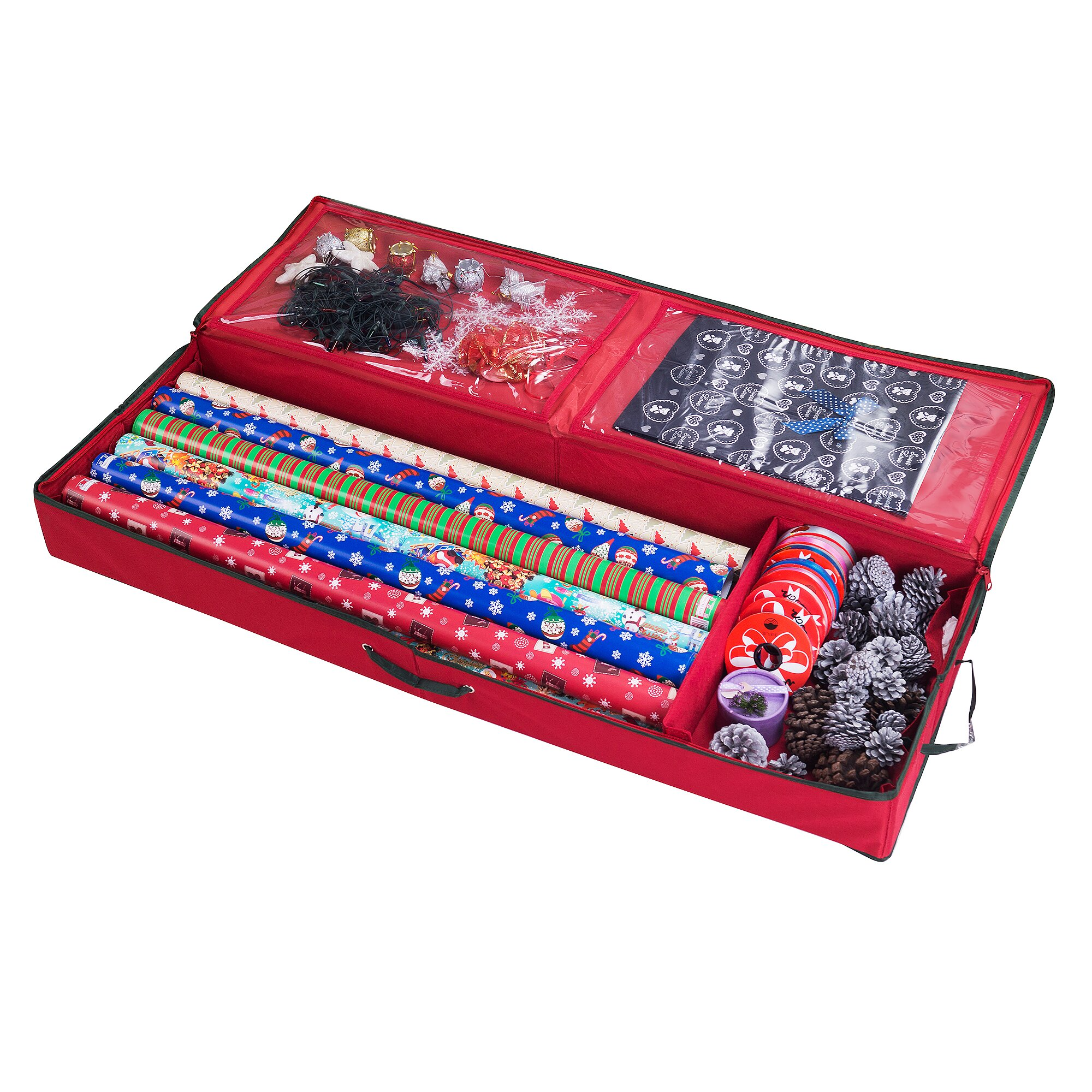 wrapping paper organizer stor premium wrapping paper ribbon and bow 29388