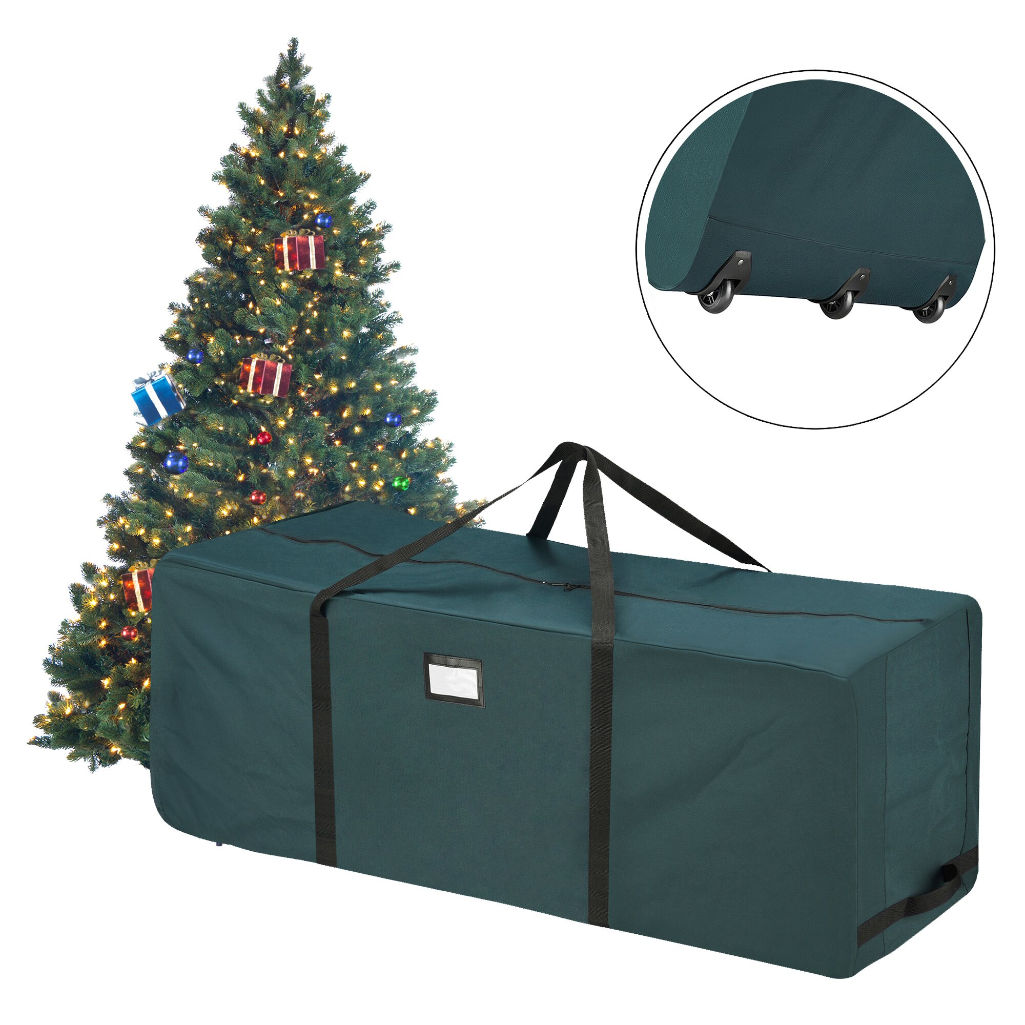elf stor premium green rolling duffle bag christmas tree. Black Bedroom Furniture Sets. Home Design Ideas