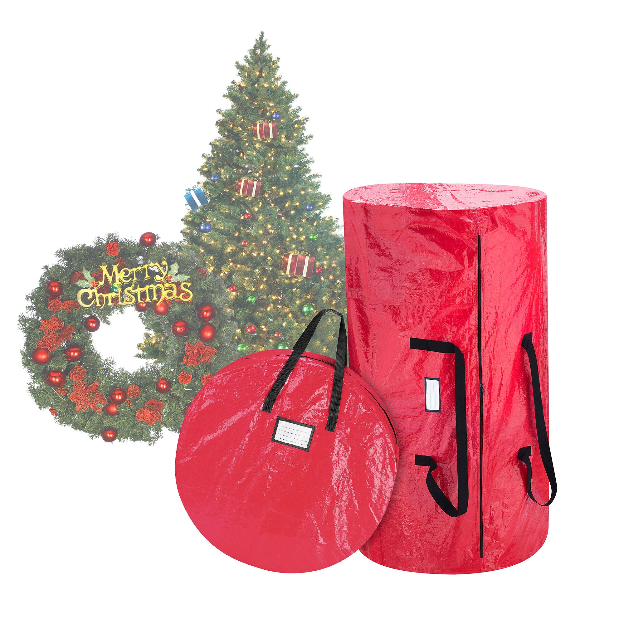 Elf Stor Deluxe Christmas Tree Storage Bag And Canvas