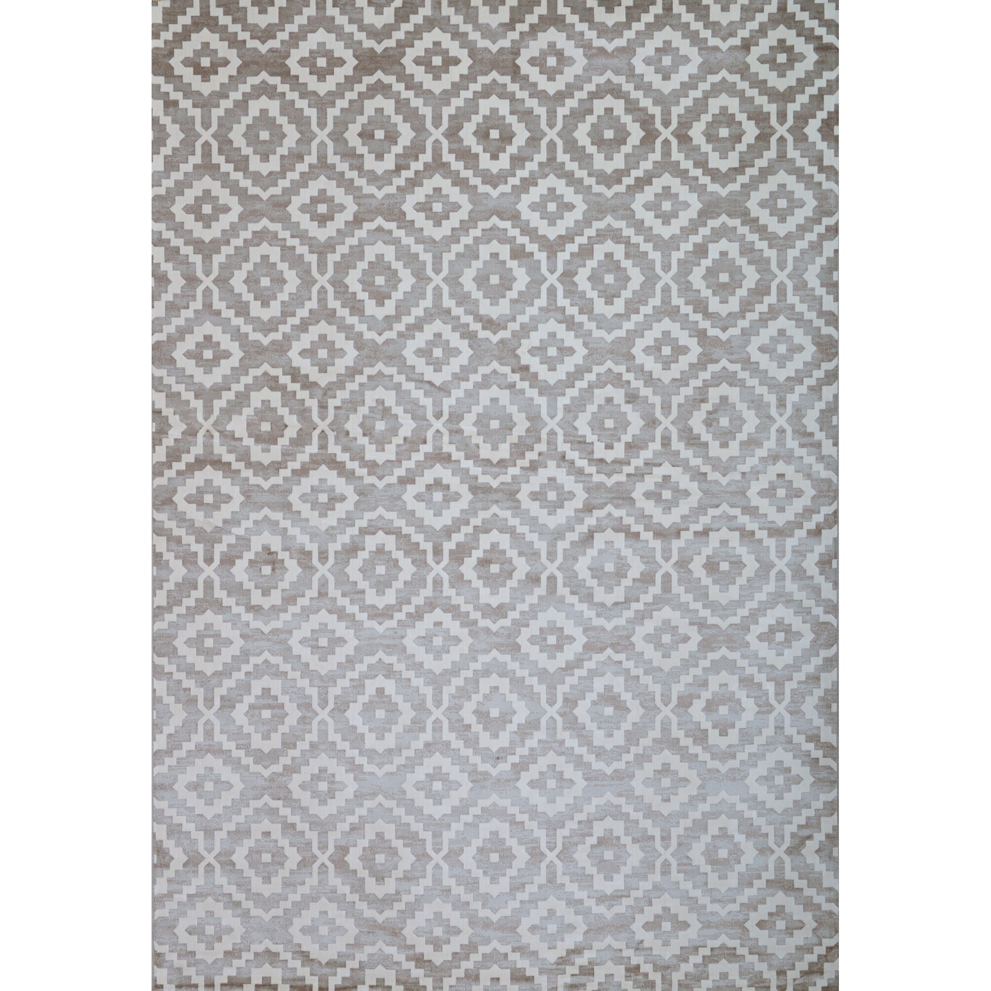 Abacasa sonoma silver grey white area rug wayfair for White area rug