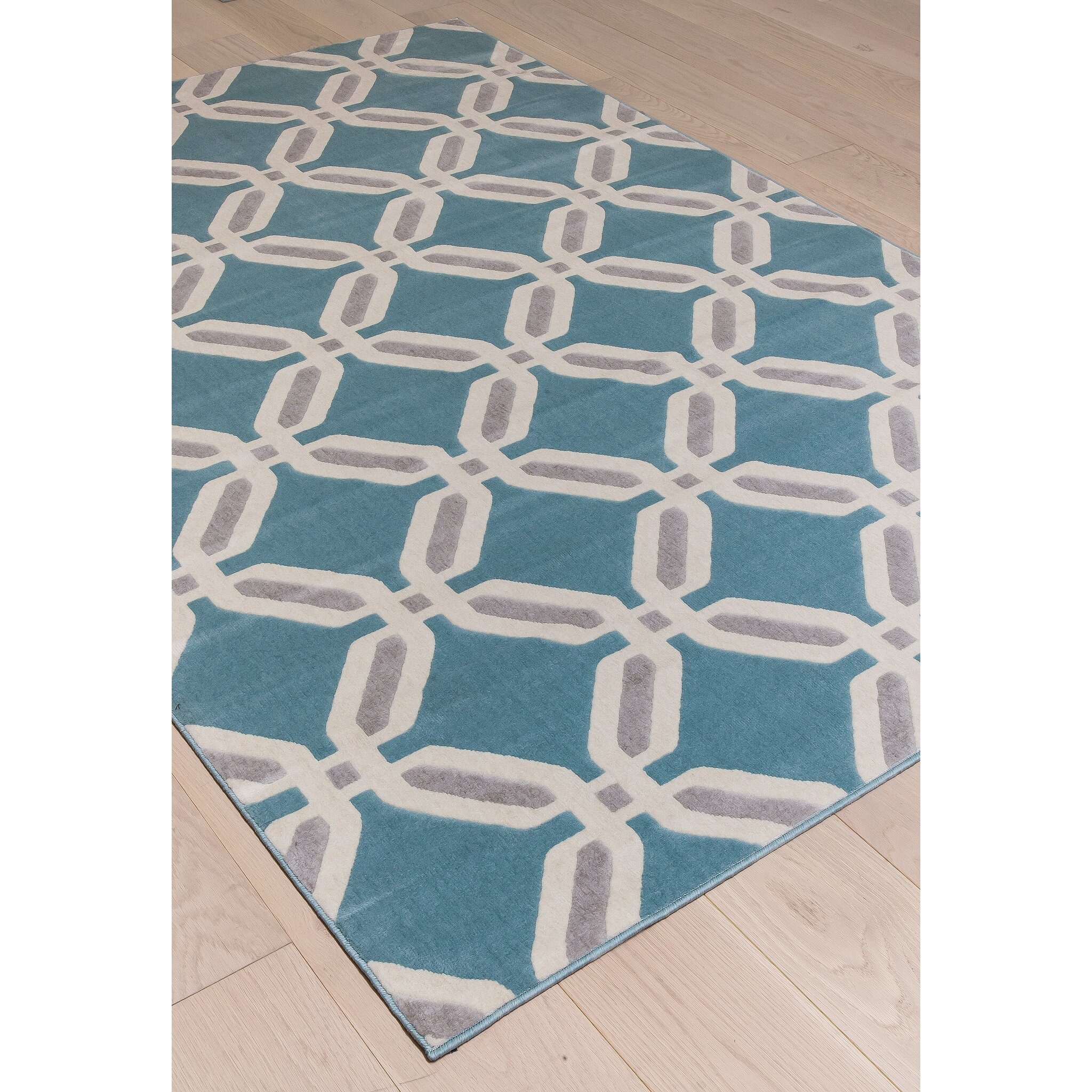 Abacasa Broadway Gray/Teal Area Rug & Reviews
