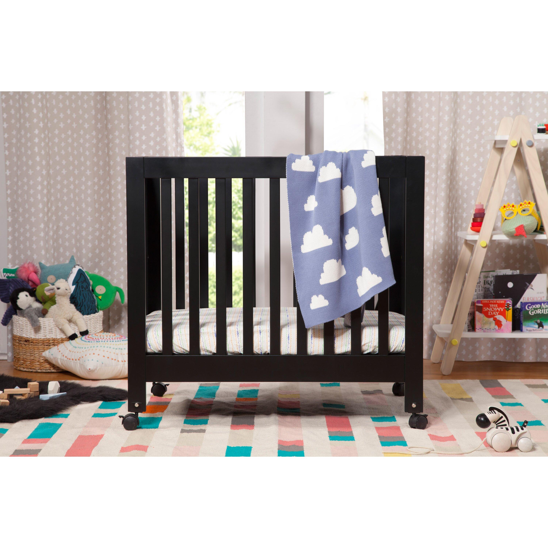 babyletto origami mini crib with mattress pad reviews wayfair