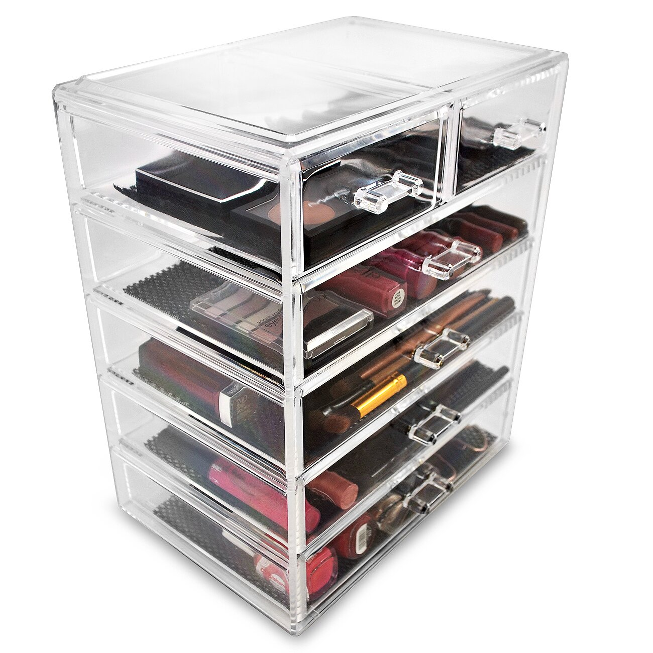 Ggi International Acrylic 6 Drawer Makeup Organizer With