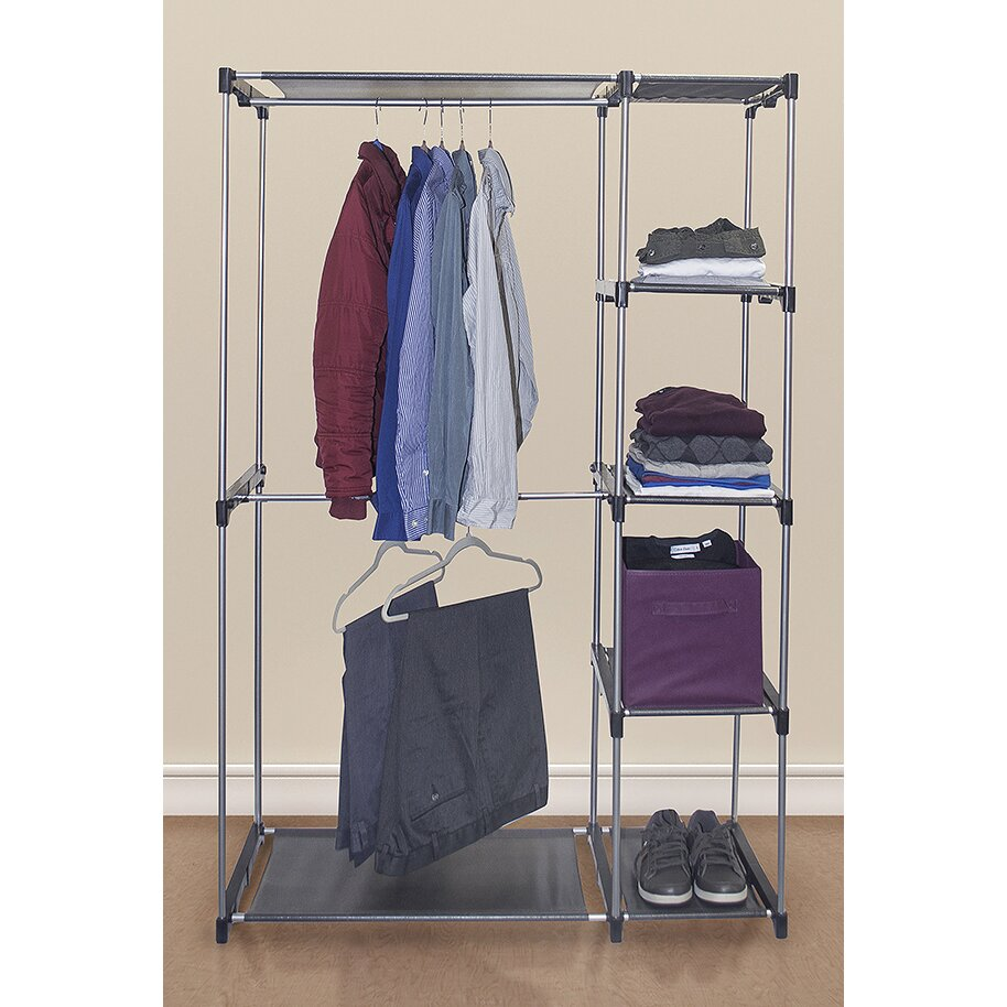 ggi international sorbus 65 5 h x 42 5 w x 18 d garment rack reviews wayfair. Black Bedroom Furniture Sets. Home Design Ideas